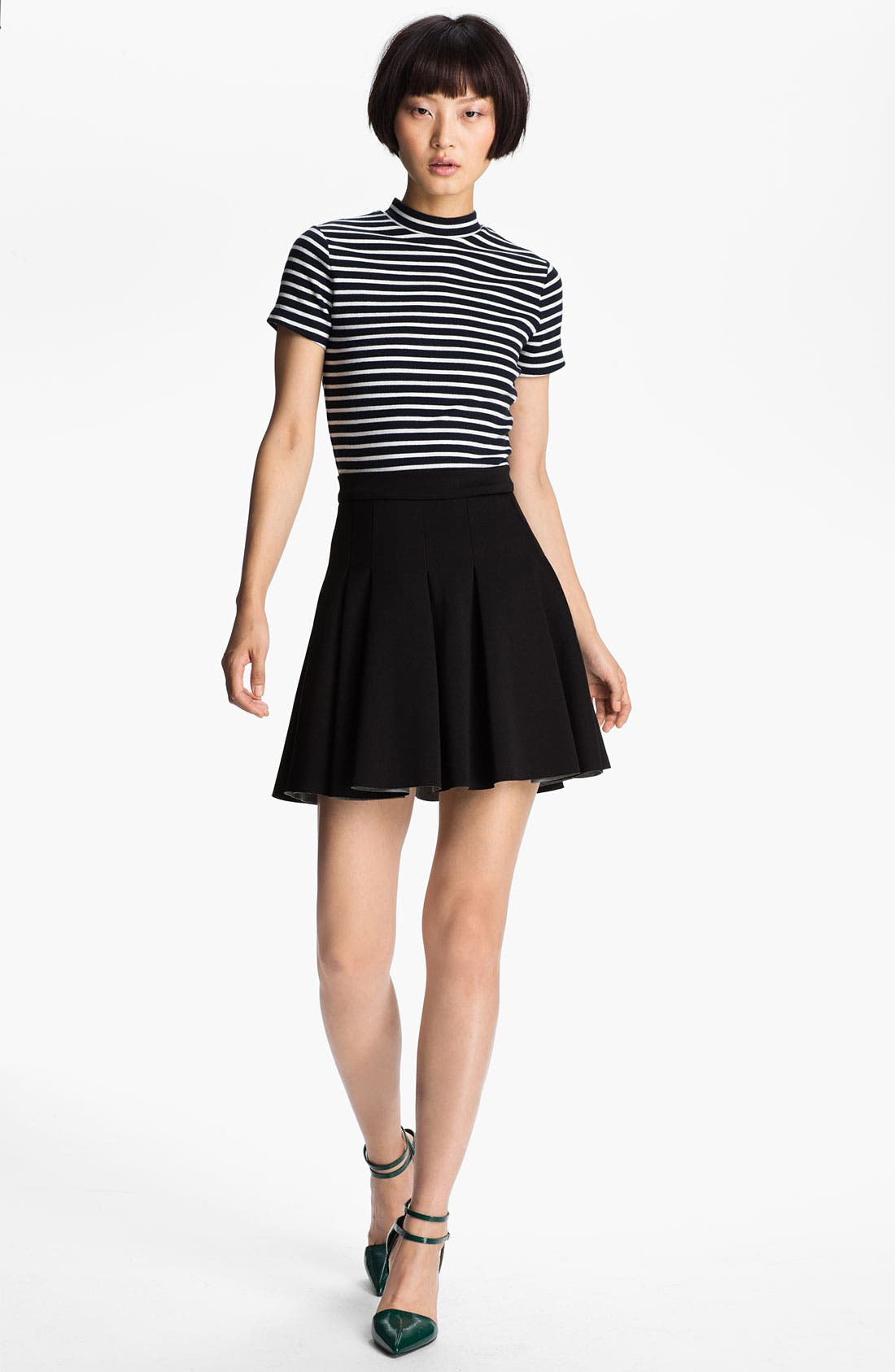 Main Image - T by Alexander Wang Stripe Mock Neck Tee