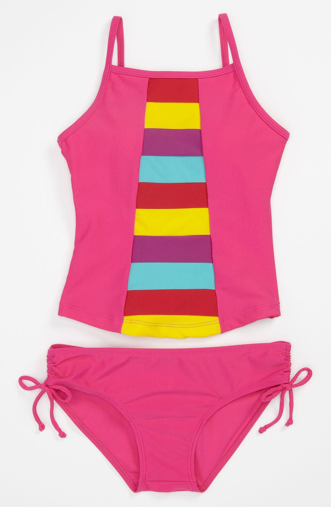 Alternate Image 1 Selected - Limeapple Rainbow Tankini Swimsuit (Big Girls)