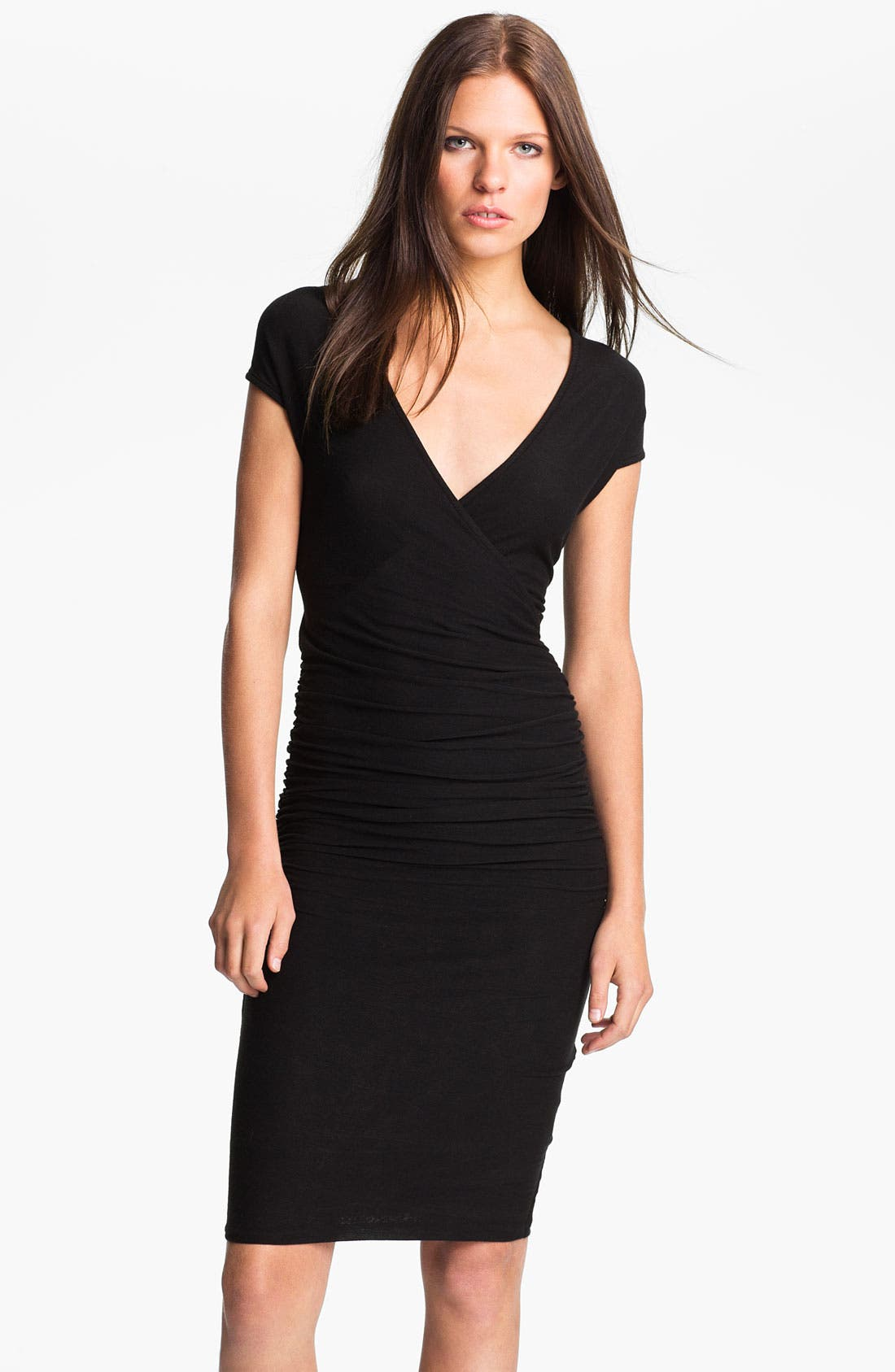 Main Image - James Perse Ruched Surplice Dress