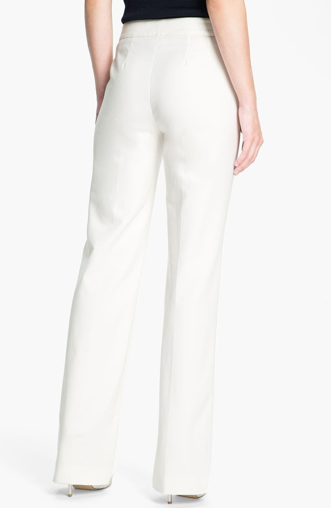 Alternate Image 3  - St. John Collection 'Shelley' Double Weave Stretch Cotton Pants