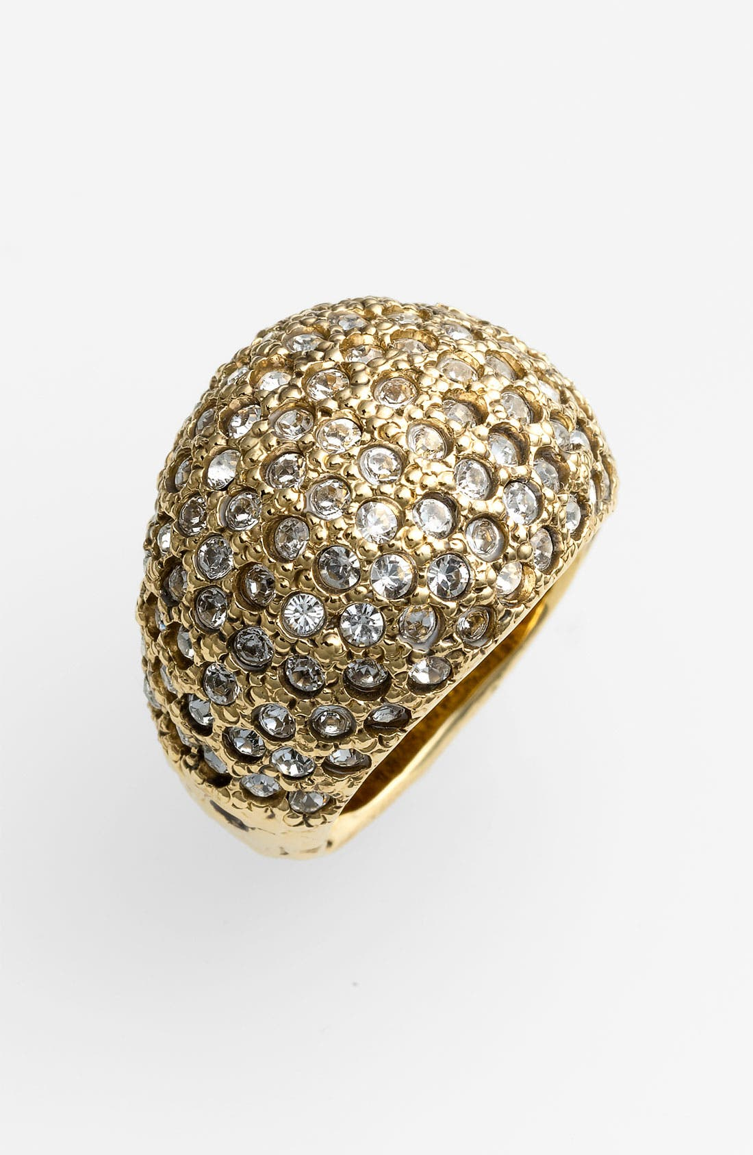 Alternate Image 1 Selected - St. John Collection Antique Gold & Crystal Ring