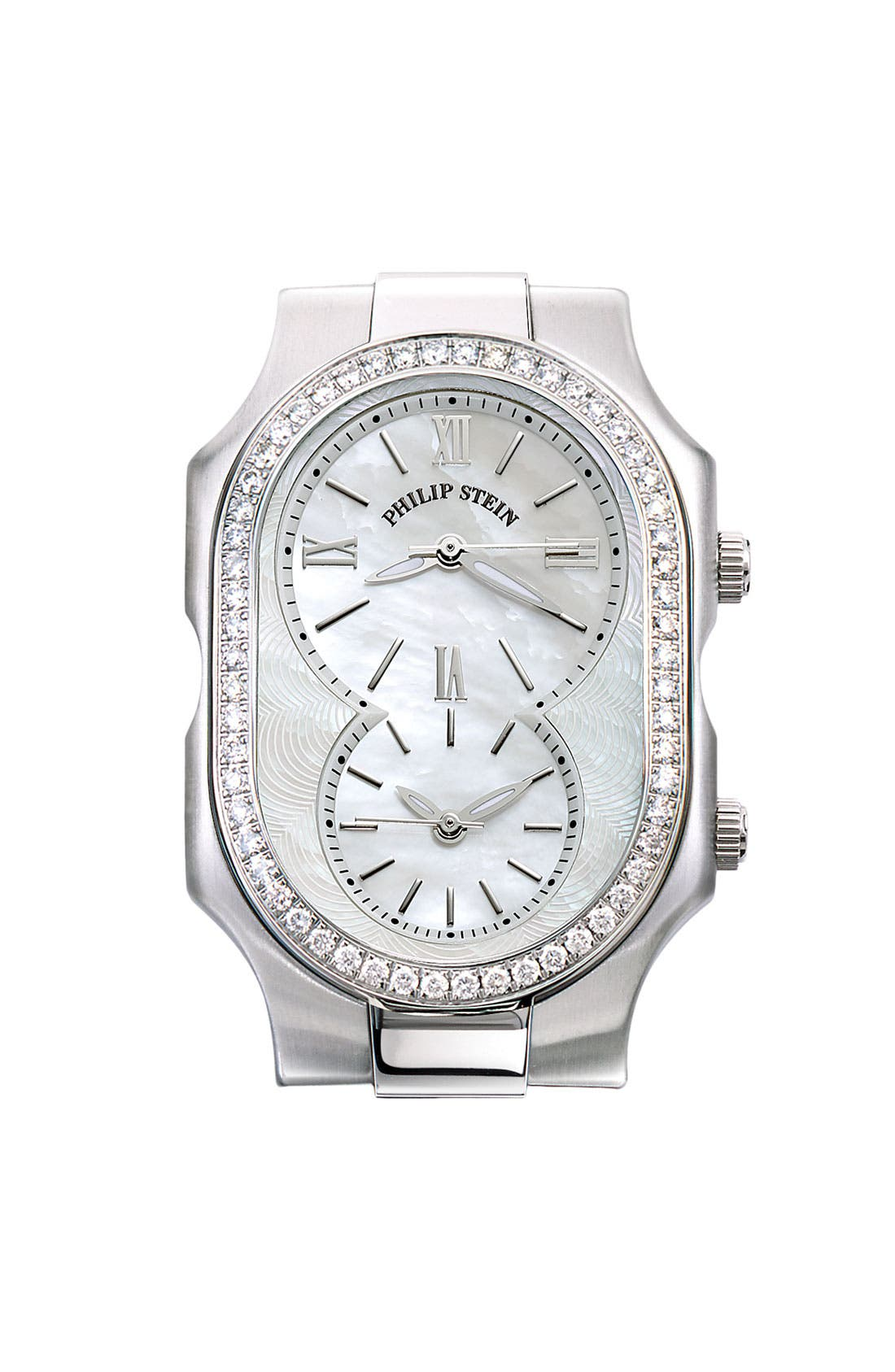 Alternate Image 1 Selected - Philip Stein® 'Signature' Large Diamond Watch Case