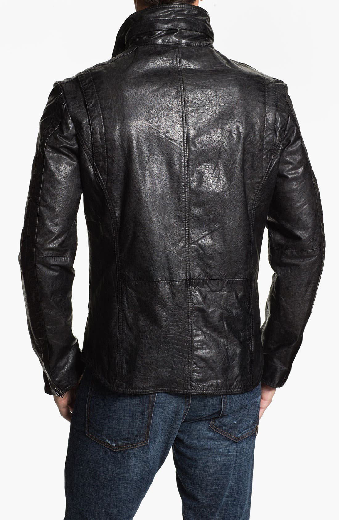 Alternate Image 2  - 7 Diamonds Buffalo Leather Jacket
