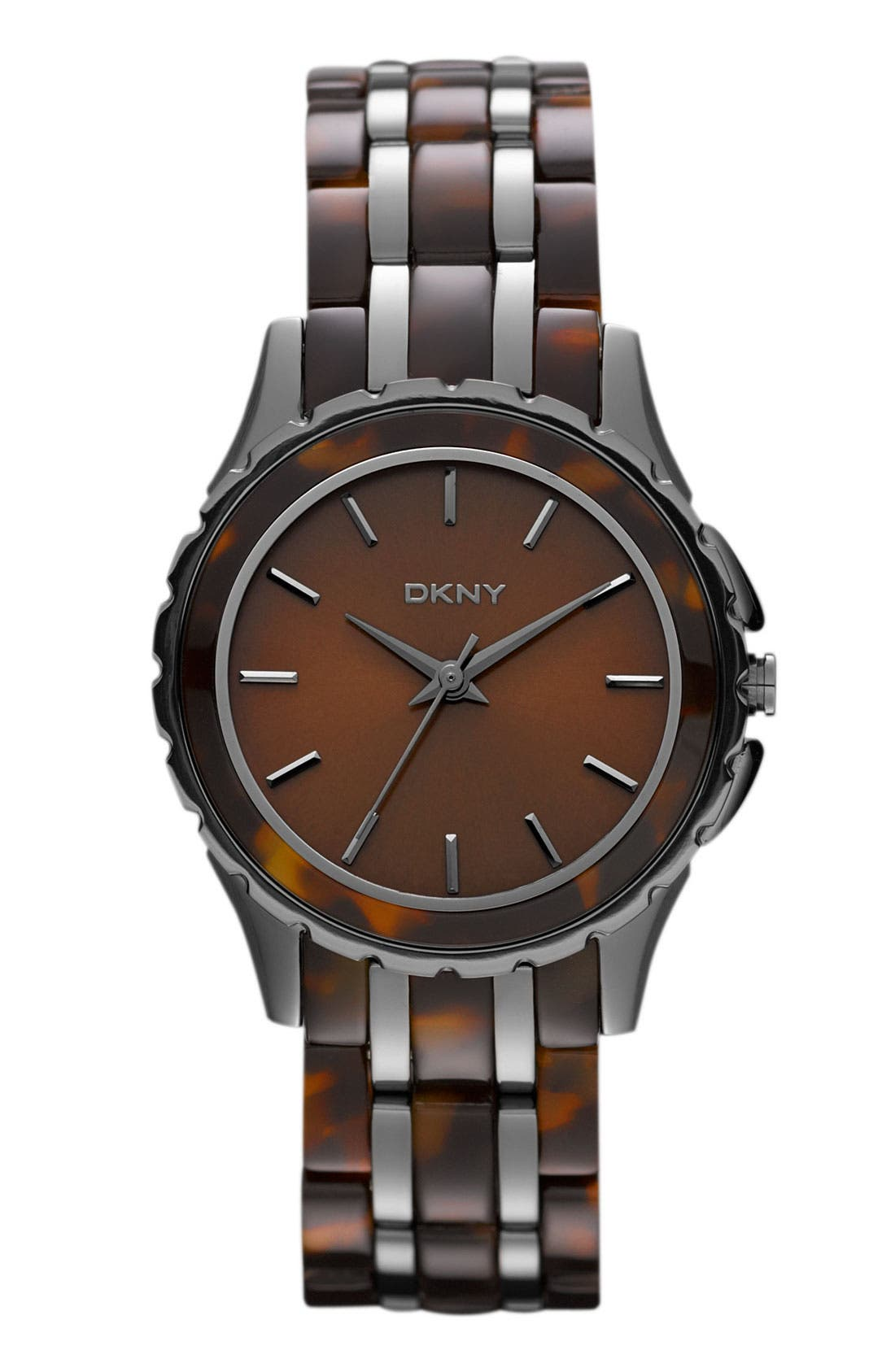 Main Image - DKNY Tortoiseshell Pattern Bracelet Watch