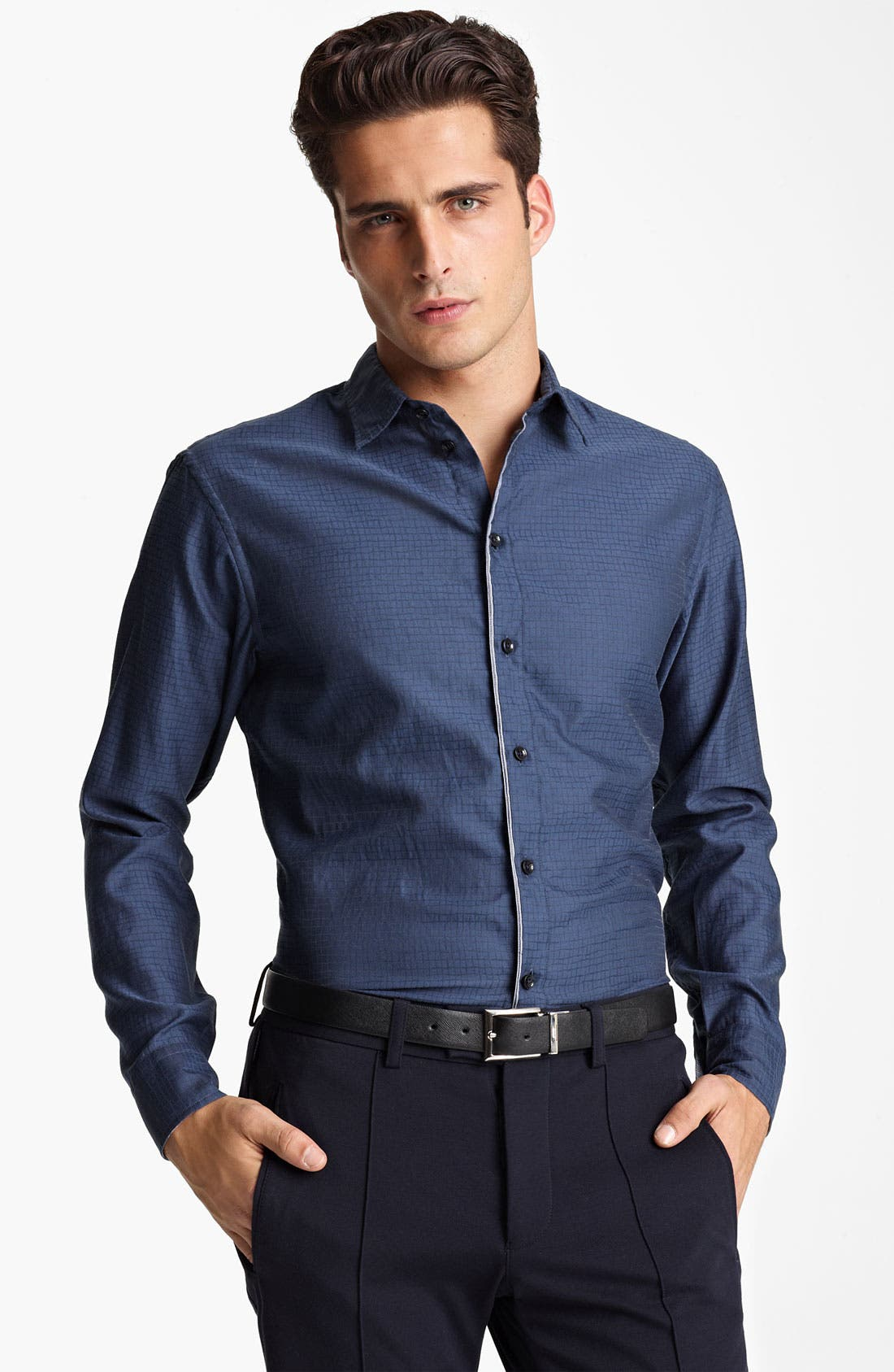 Main Image - Armani Collezioni Cotton Blend Sport Shirt