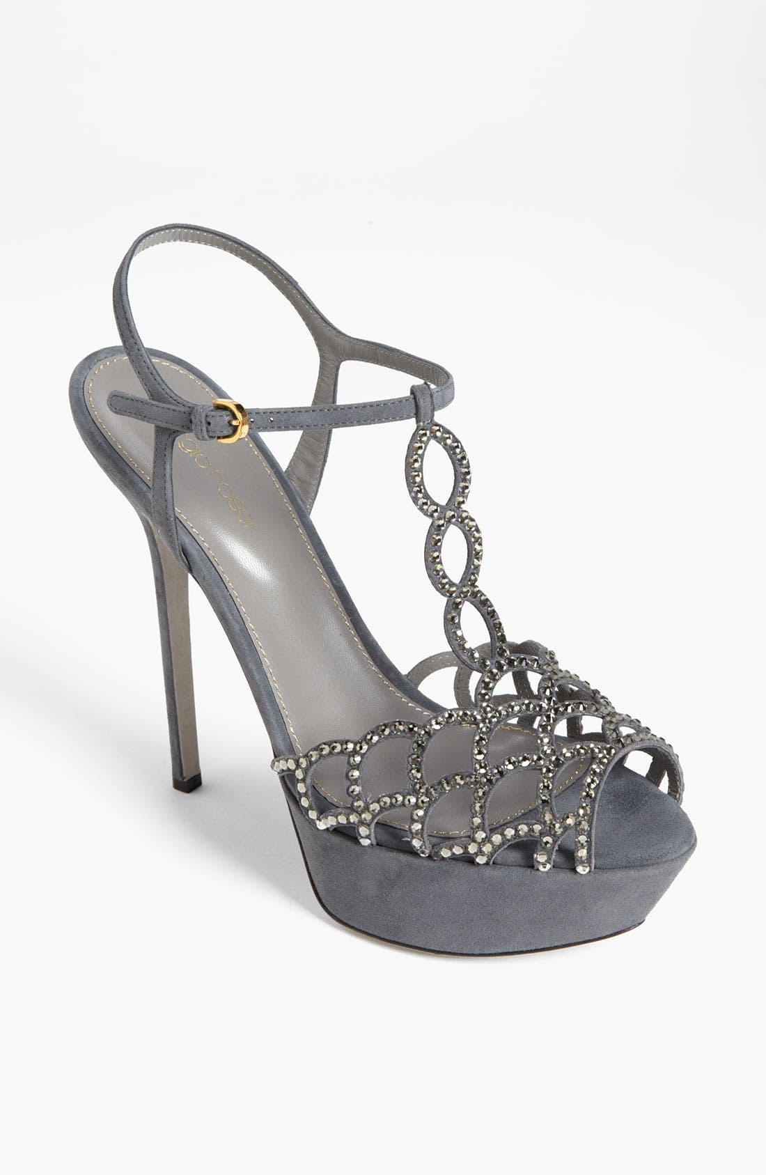 Alternate Image 1 Selected - Sergio Rossi 'Vague' Platform Sandal