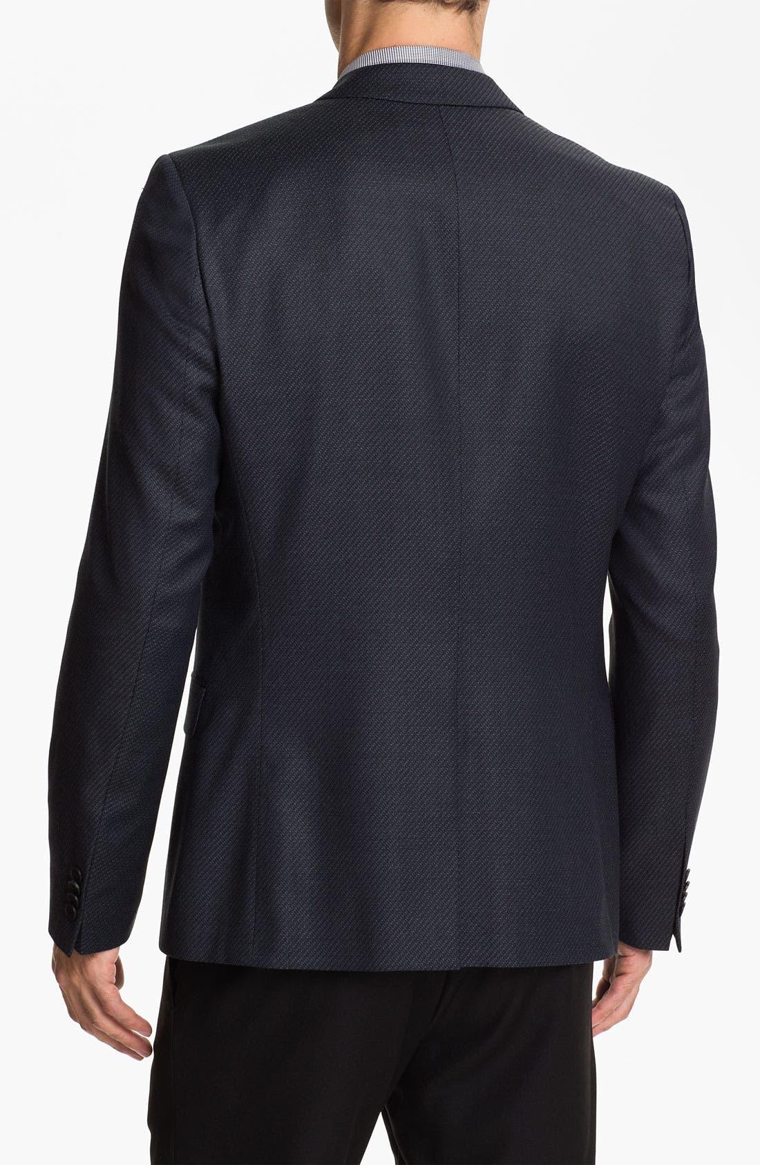 Alternate Image 2  - HUGO 'Amares' Trim Fit Wool Blazer