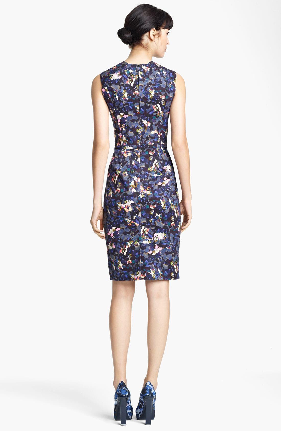Alternate Image 2  - Erdem Petal Print Sleeveless Dress