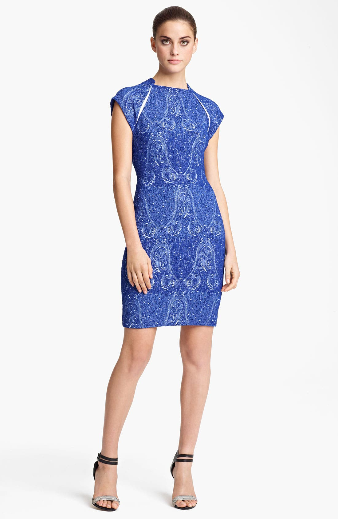Alternate Image 1 Selected - Yigal Azrouël Stretch Jacquard Dress