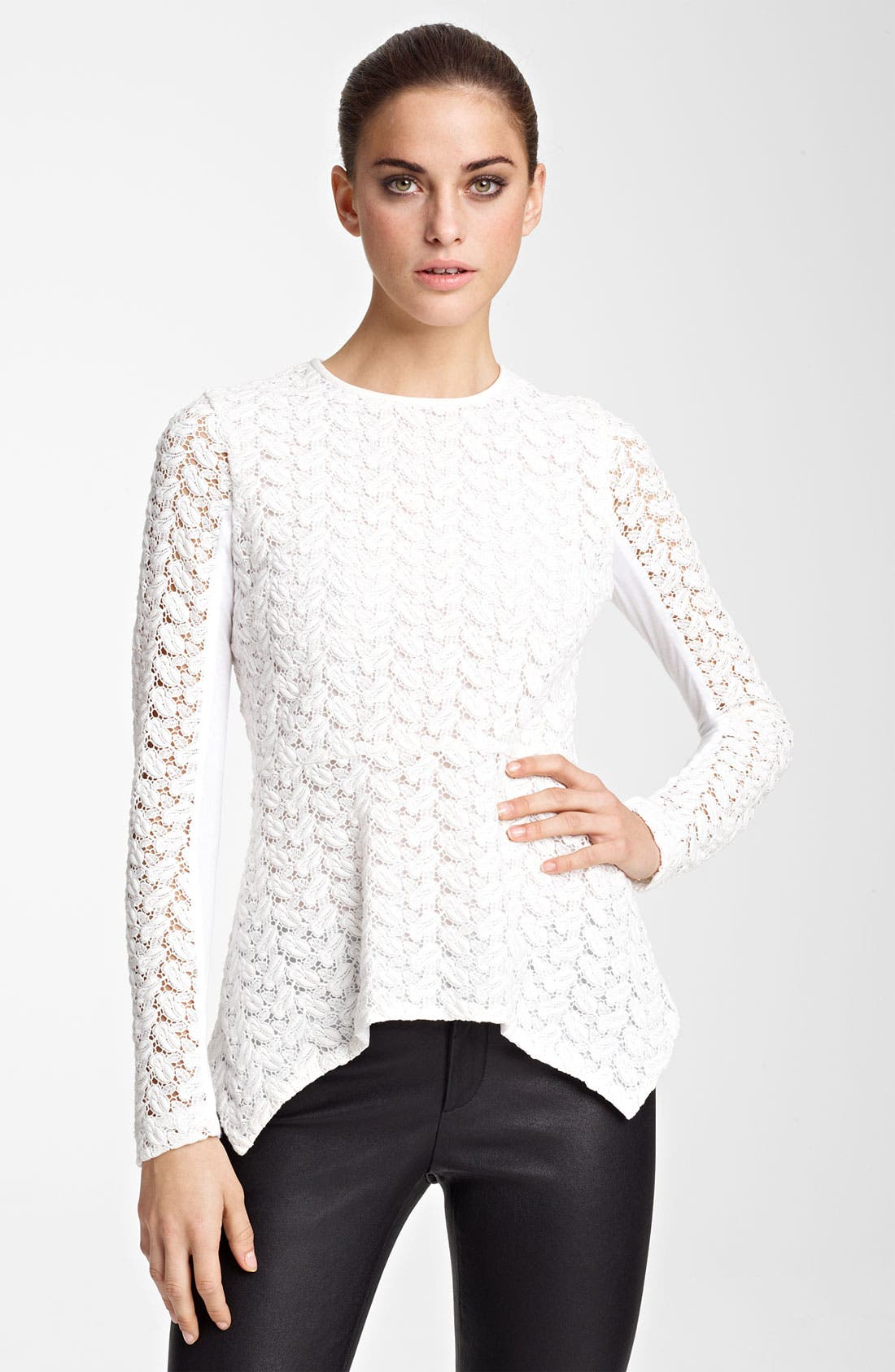 Alternate Image 1 Selected - Yigal Azrouël Lace Blouse