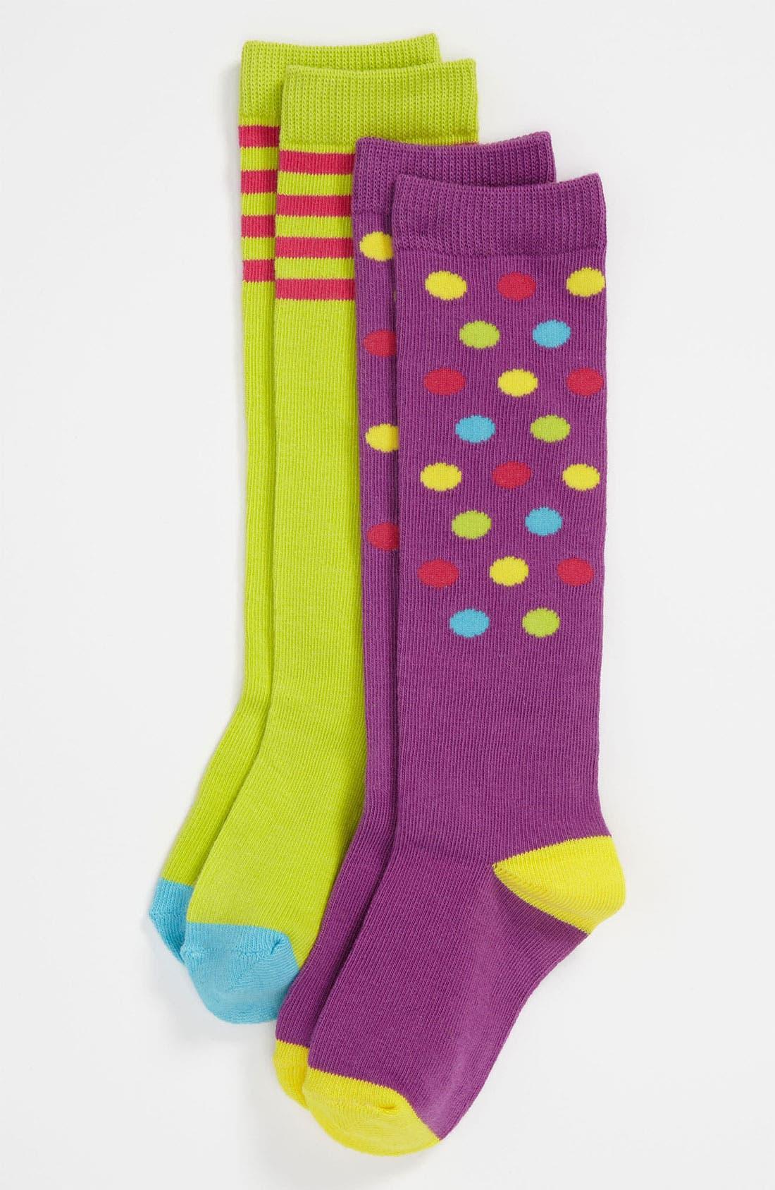 Alternate Image 1 Selected - Nordstrom 'Mix & Match' Knee Socks (2-Pack) (Girls)