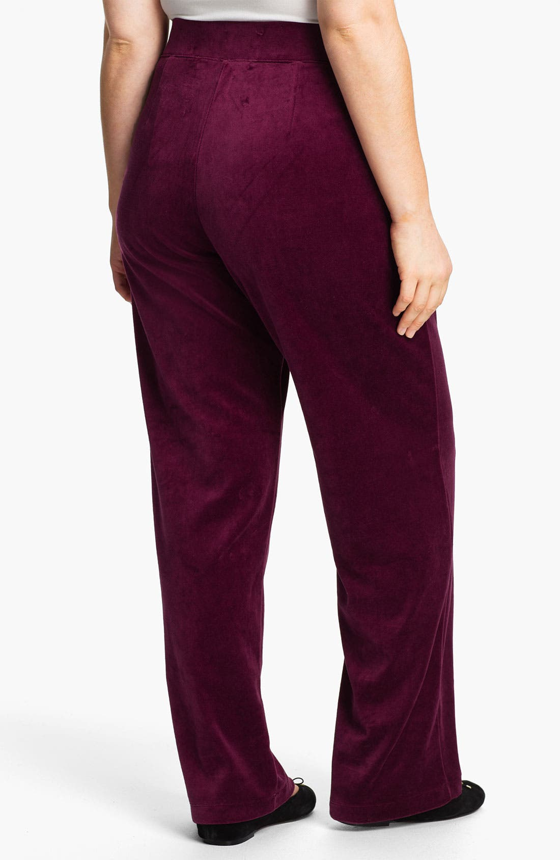 Alternate Image 2  - Sejour Weekend Velour Pants (Plus)