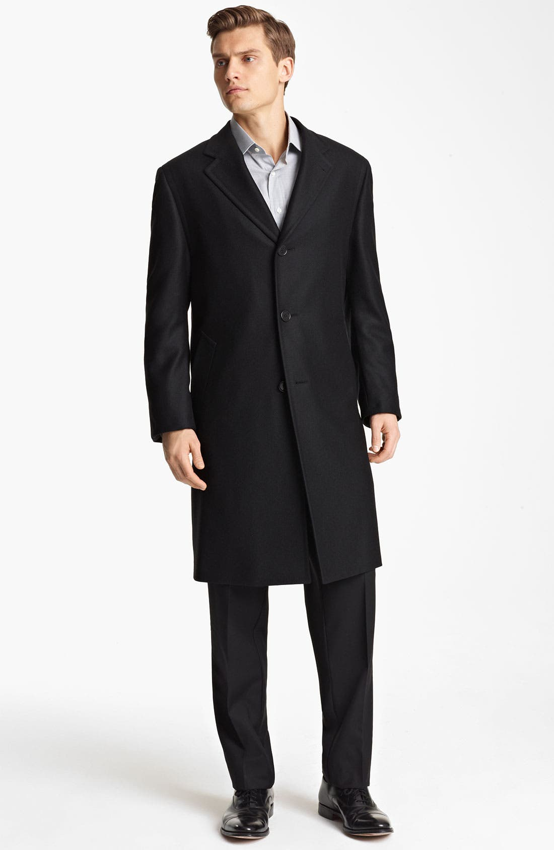 Alternate Image 1 Selected - Canali Wool Topcoat