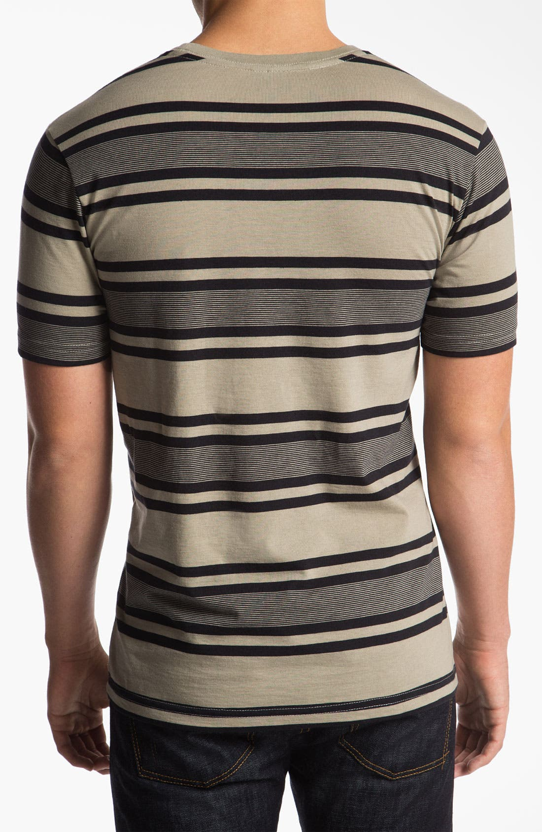 Alternate Image 2  - RVCA 'SOS' Stripe Crewneck T-Shirt