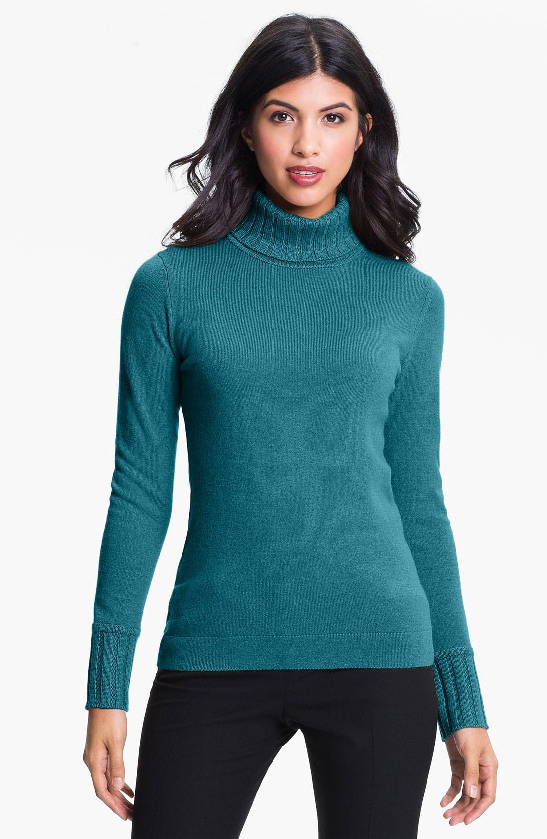 Alternate Image 1 Selected - Cashmere Cashmere Turtleneck Sweater