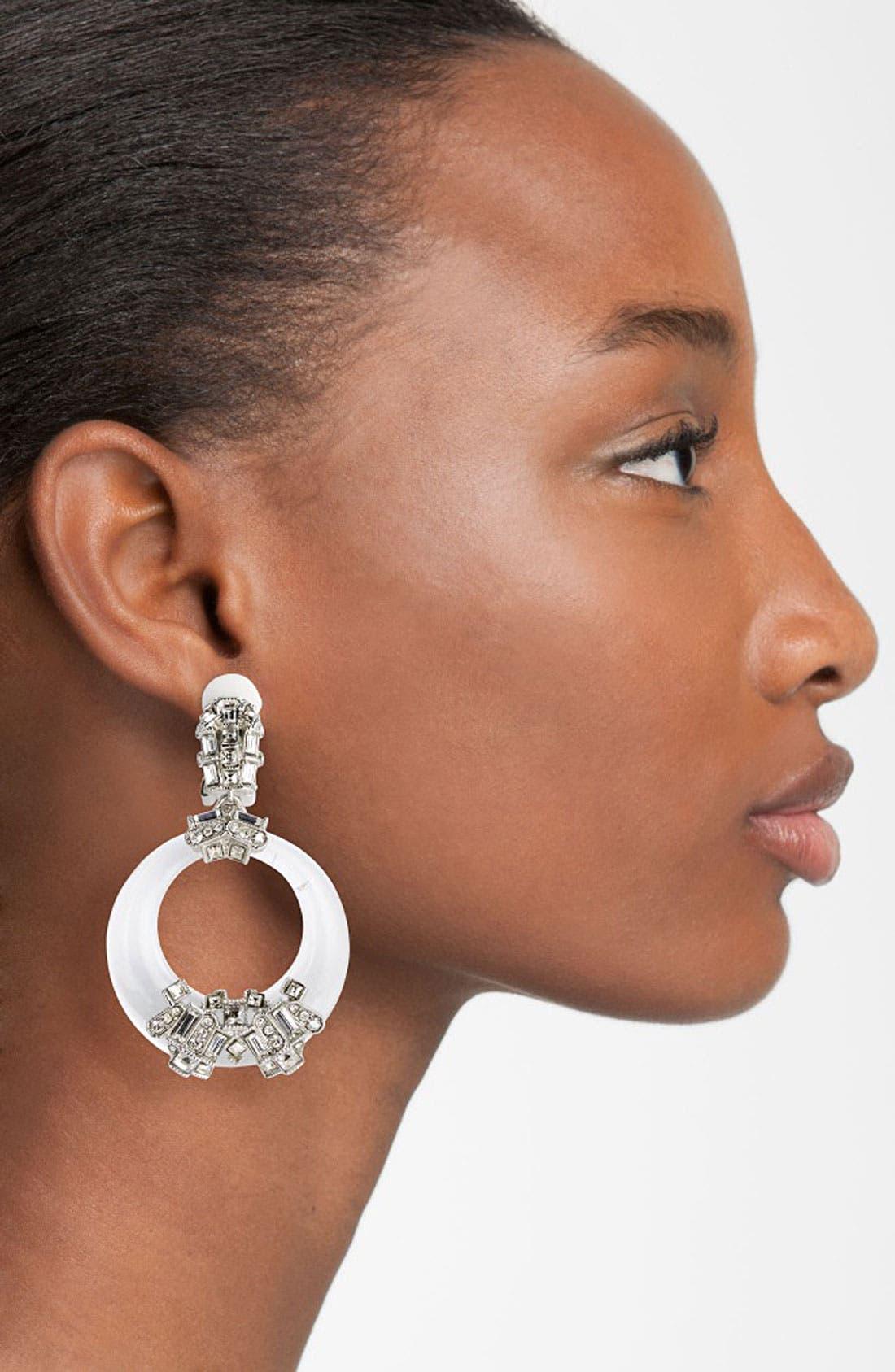 Alternate Image 2  - Alexis Bittar 'Teatro Moderne' Frontal Hoop Clip Earrings