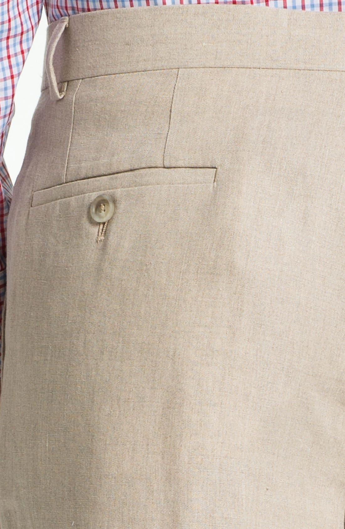 Alternate Image 3  - John W. Nordstrom® Flat Front Linen Pants