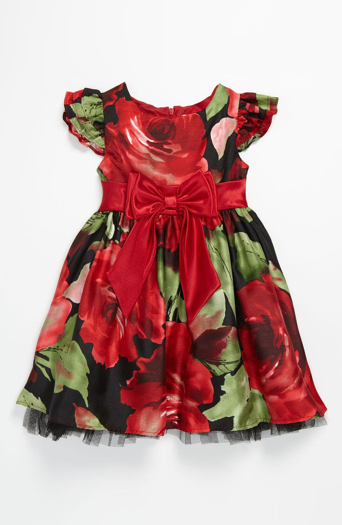 Main Image - Sweet Heart Rose Floral Dress (Toddler)