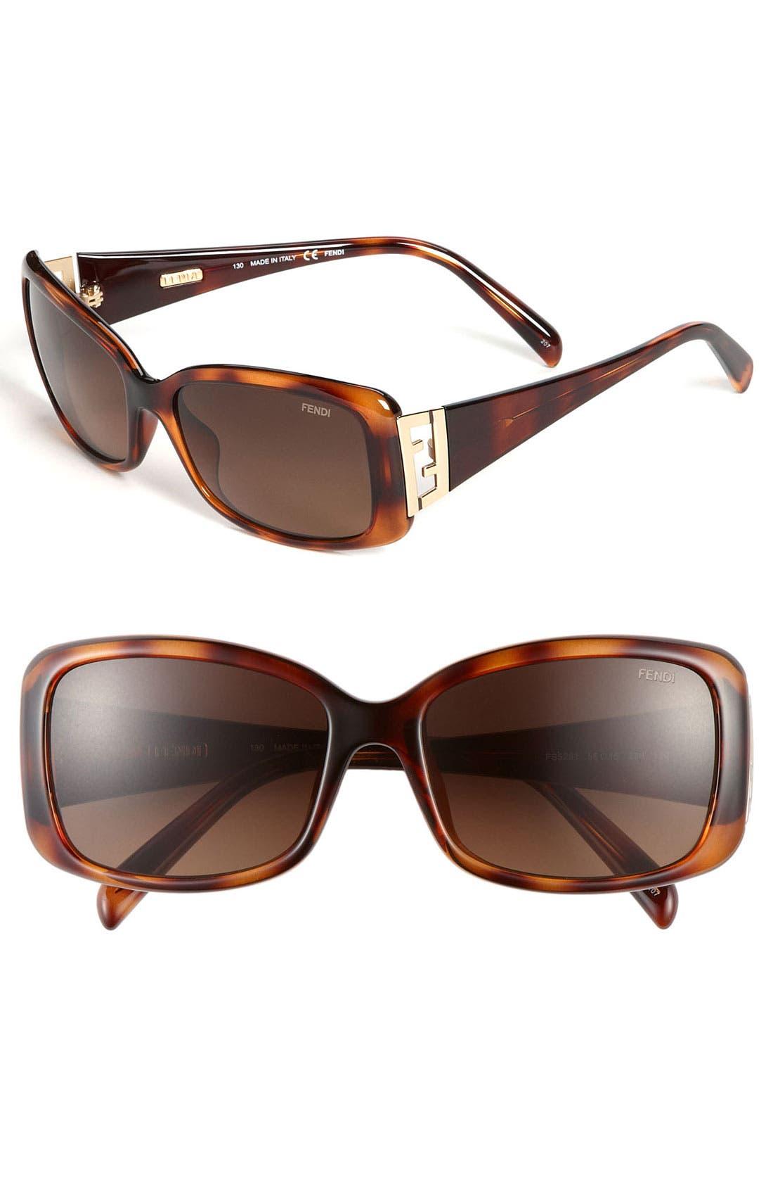 Alternate Image 1 Selected - Fendi 'Double F' 56mm Sunglasses