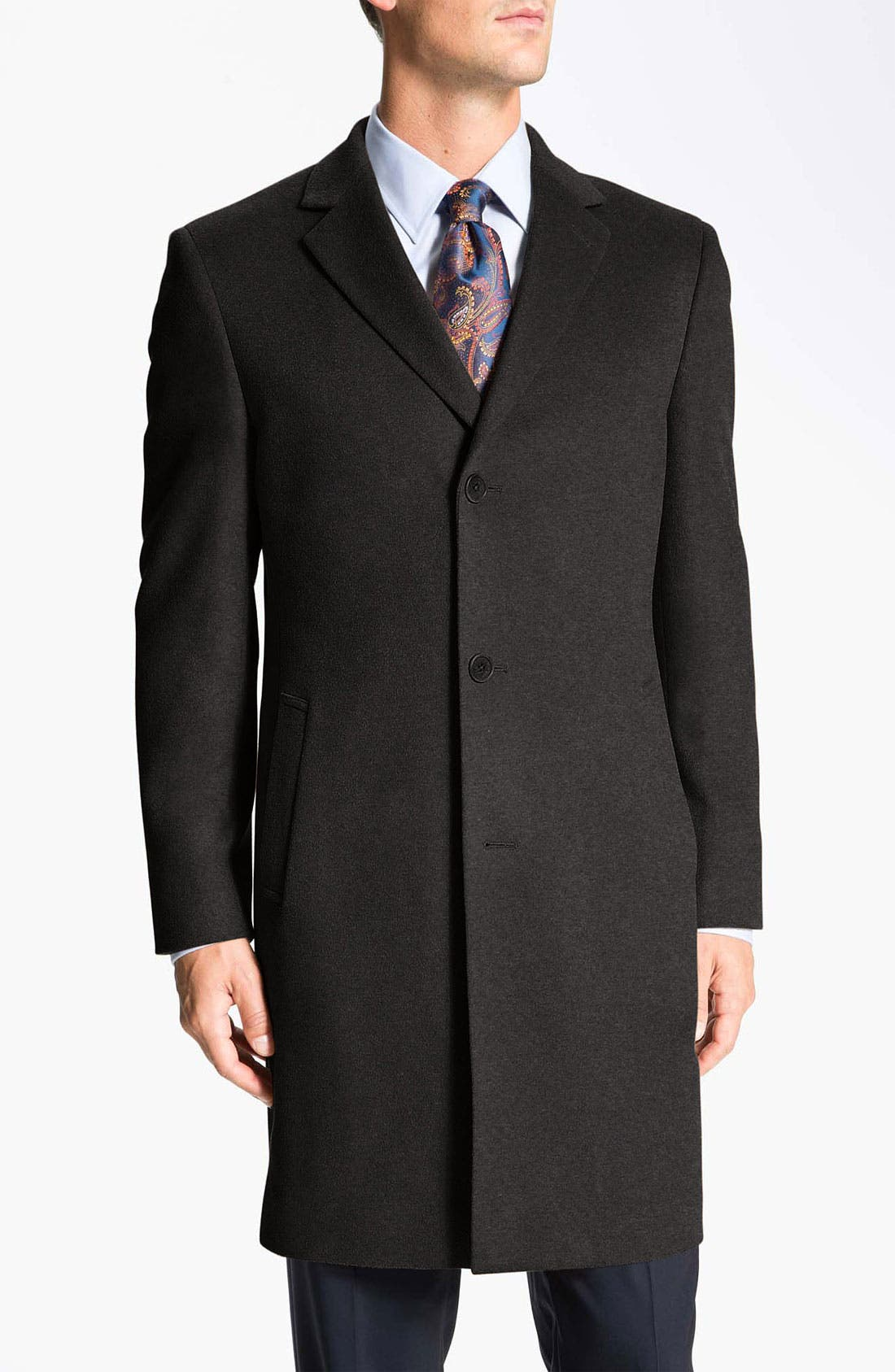Main Image - John W. Nordstrom® Signature 'Clifton' Cashmere Top Coat