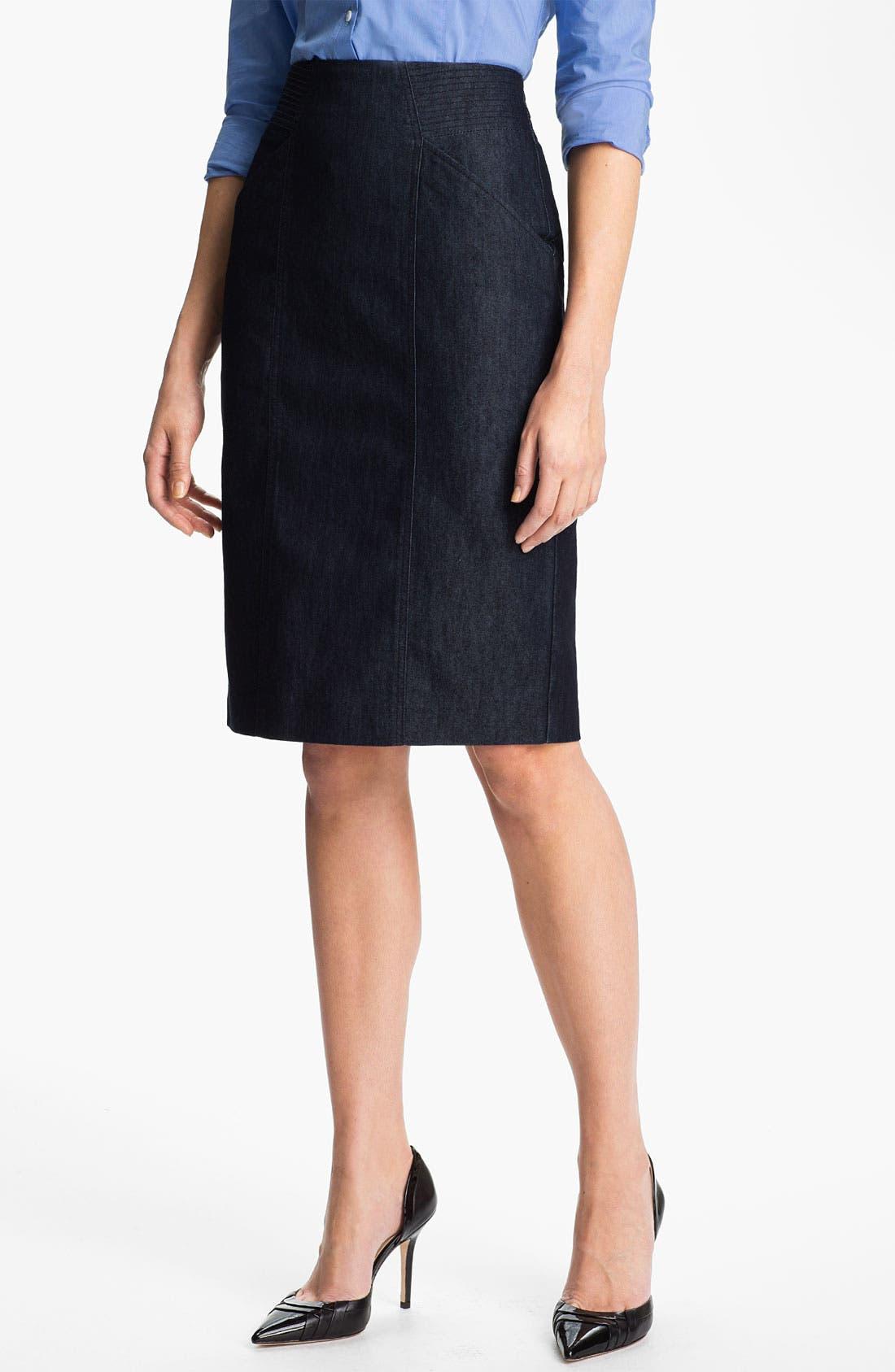 Alternate Image 1 Selected - Halogen® High Waist Denim Skirt