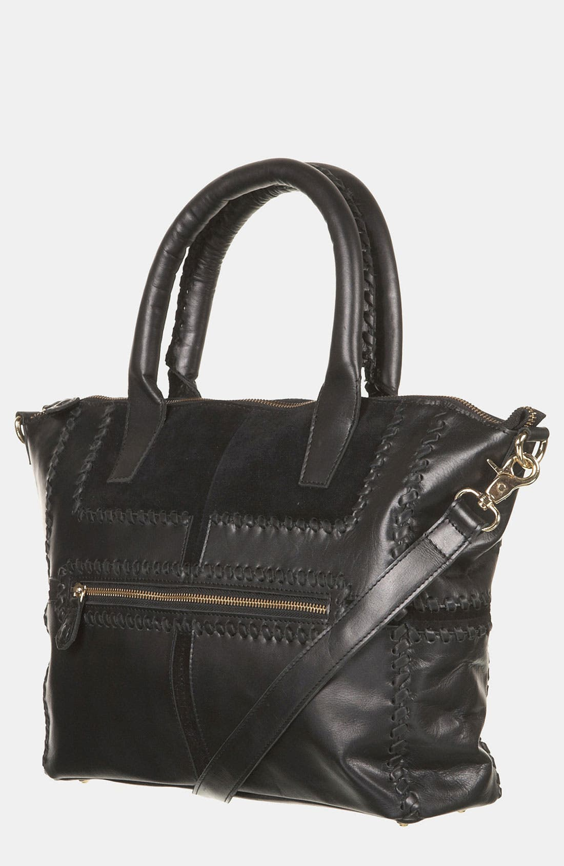 Main Image - Topshop Whipstitch Panel Satchel