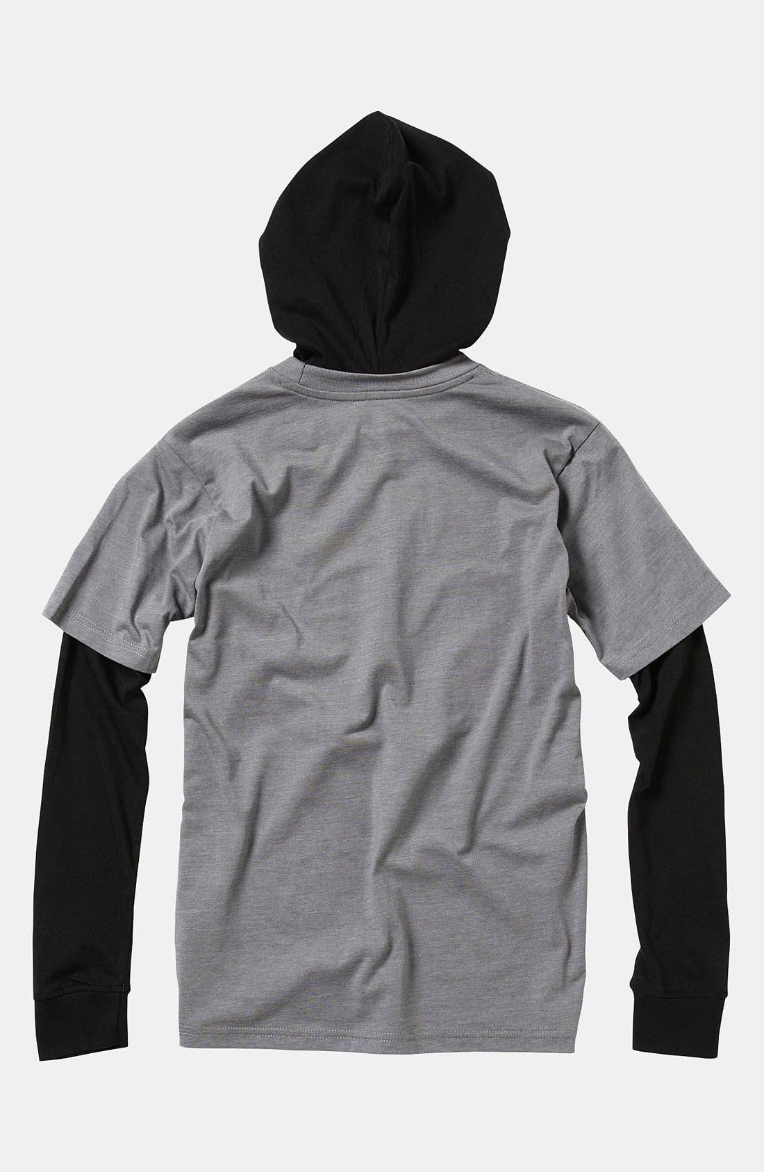 Alternate Image 2  - Quiksilver 'Balin' Hooded Shirt (Big Boys)
