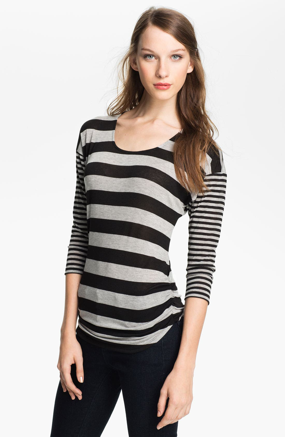Alternate Image 1 Selected - Olivia Moon Mix Stripe Top (Petite)