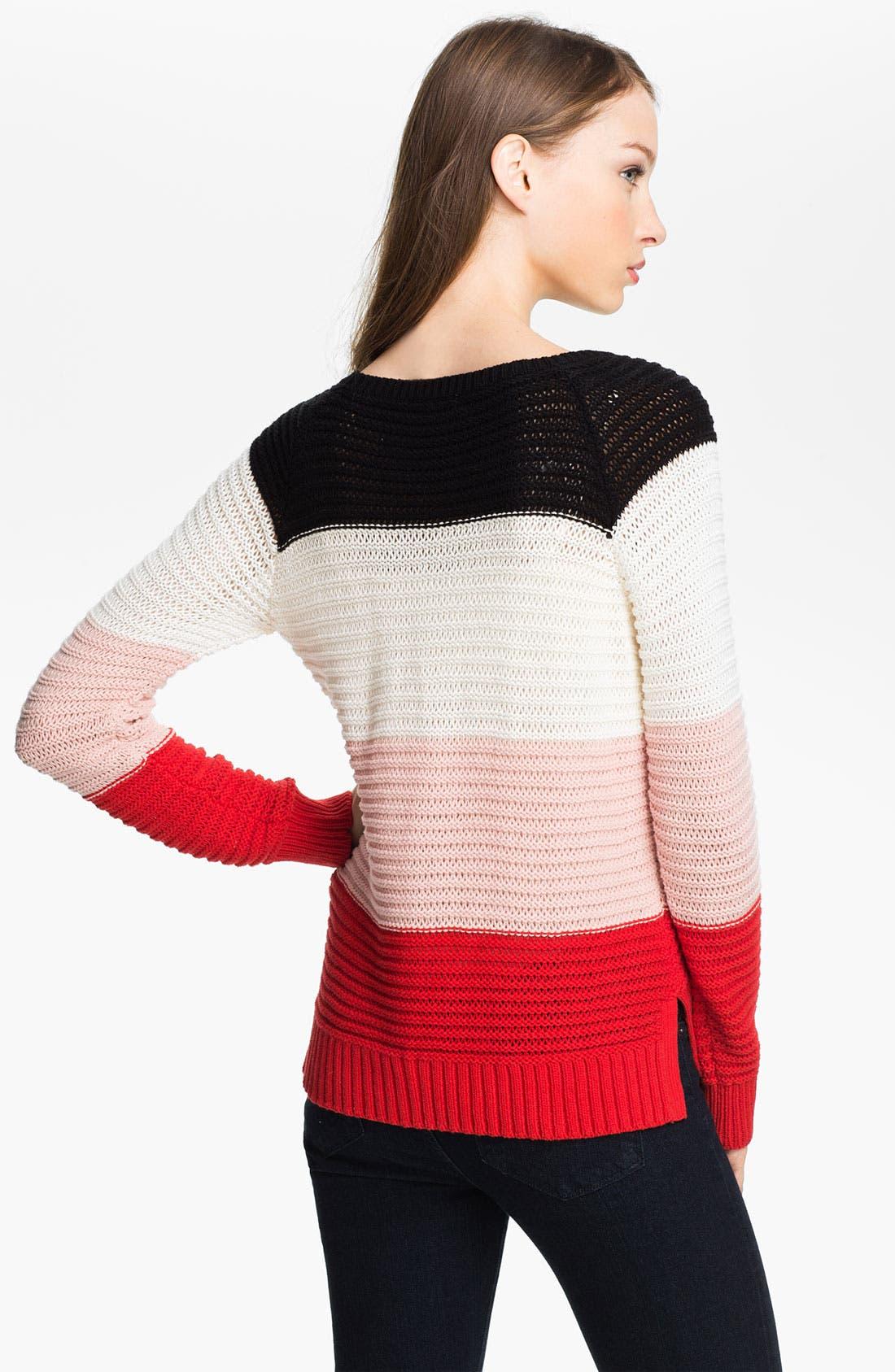 Alternate Image 2  - Vince Camuto Wide Stripe Sweater