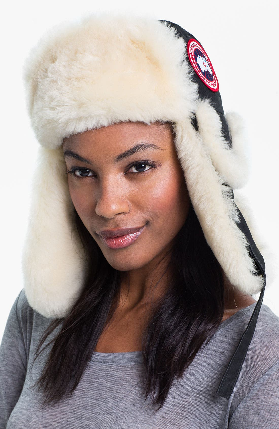 Alternate Image 1 Selected - Canada Goose Genuine Shearling Pilot Hat