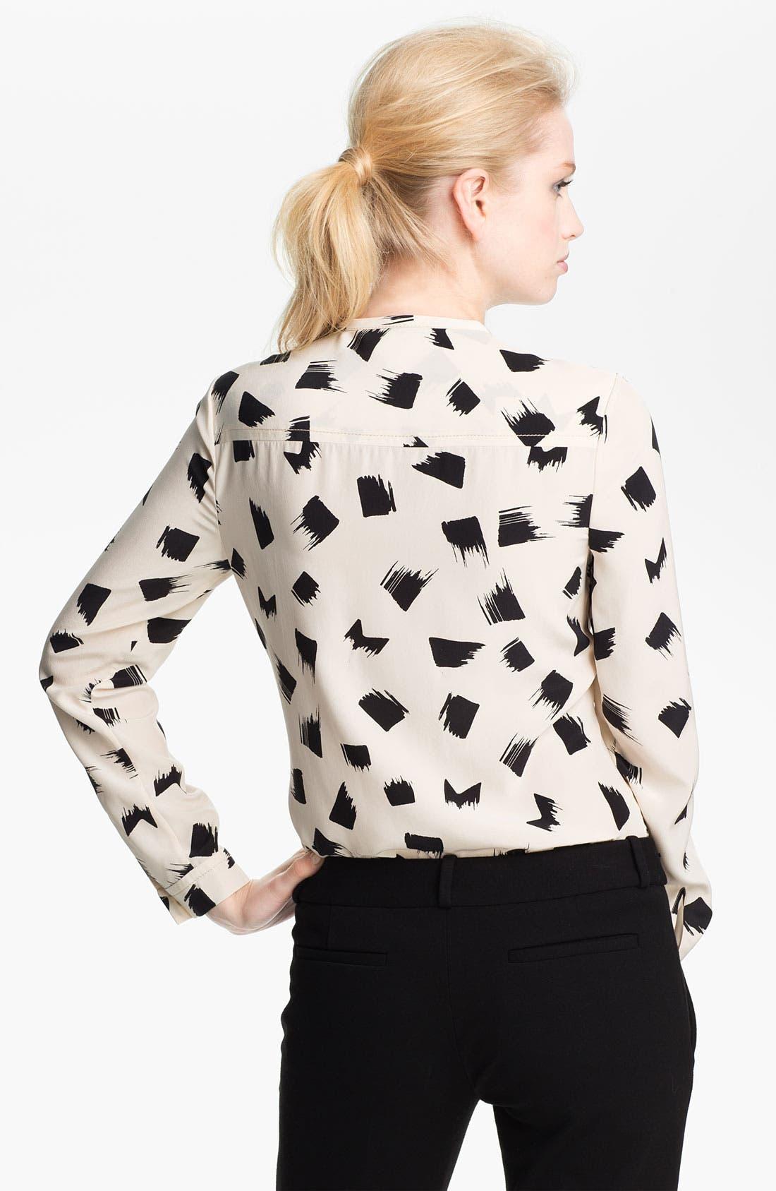 Alternate Image 2  - Diane von Furstenberg 'Hayden' Print Silk Blouse