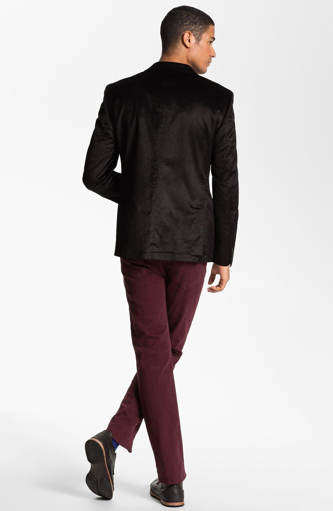 Alternate Image 4  - Joe's 'Brixton' Slim Straight Leg Jeans (Bordeaux)
