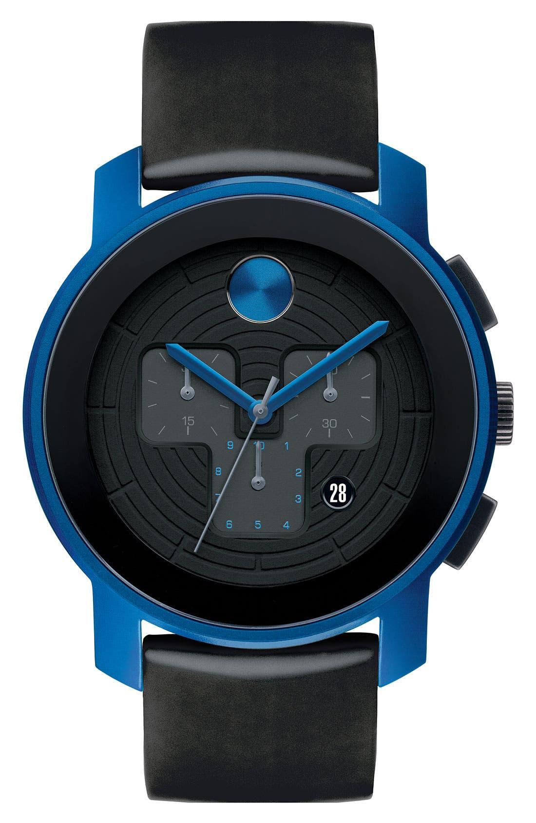 Main Image - Movado 'Large Bold Chrono' Silicone Strap Watch, 43mm