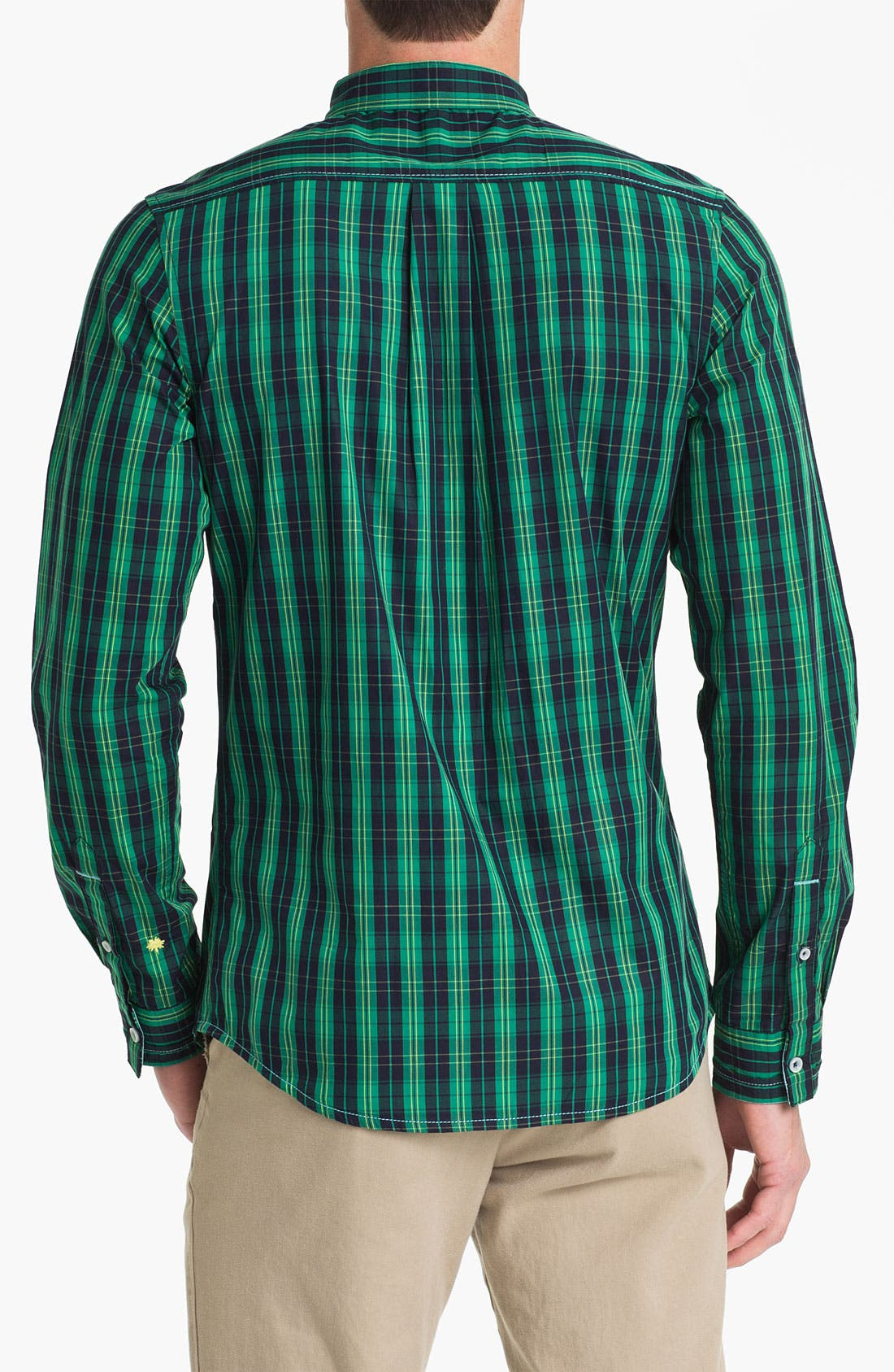 Alternate Image 2  - Descendant of Thieves Tartan Plaid Woven Shirt