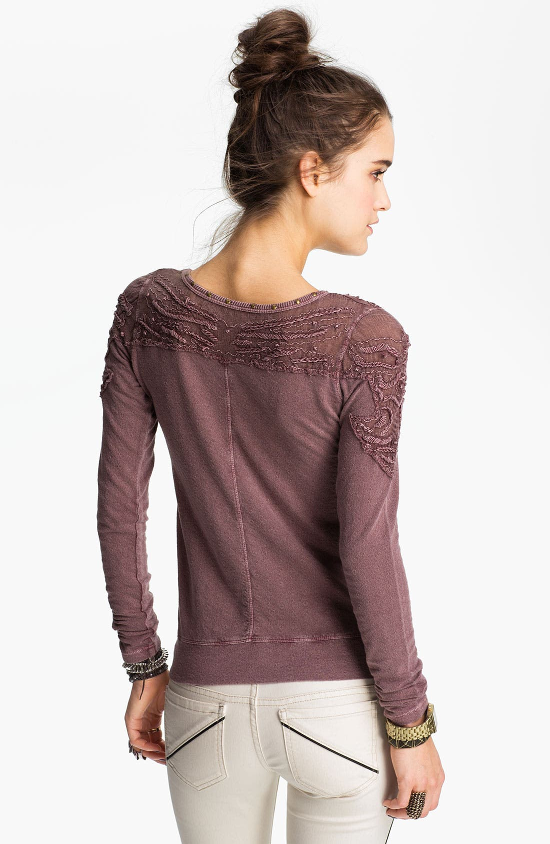 Alternate Image 2  - Free People 'Barton Springs' Embroidered Shoulder Top