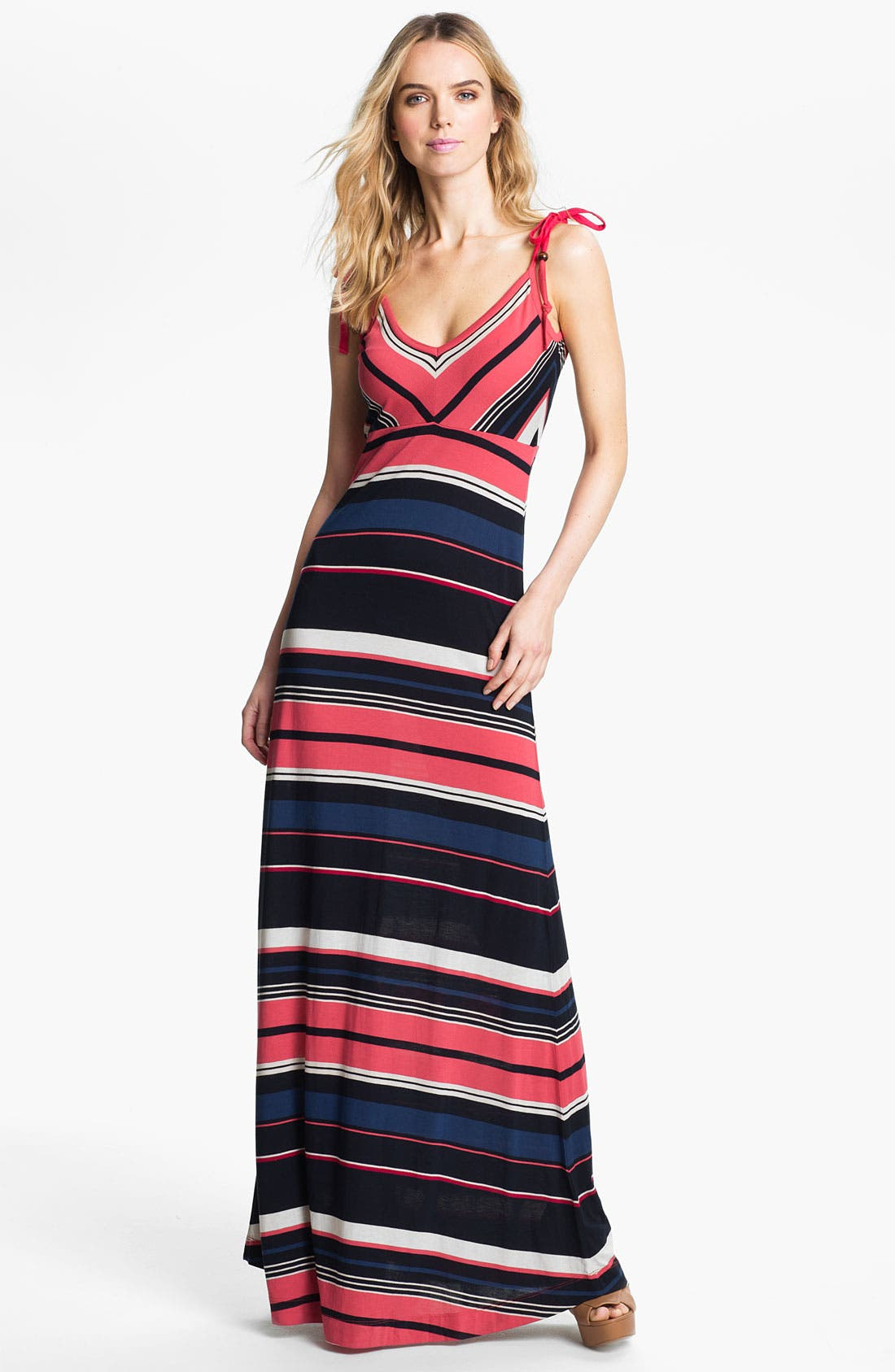 Alternate Image 1 Selected - French Connection Stripe Maxi Dress