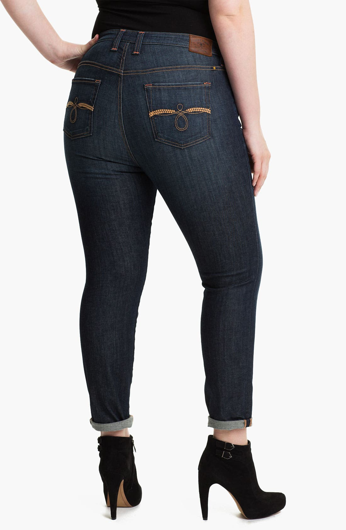 Alternate Image 2  - Lucky Brand 'Ginger' Skinny Denim Jeans (Plus)