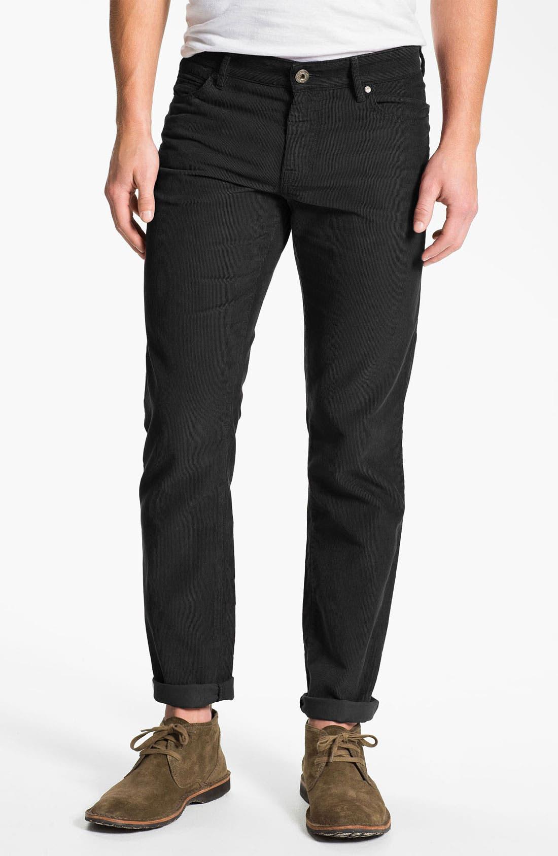 Alternate Image 2  - BOSS Orange Straight Leg Corduroy Pants