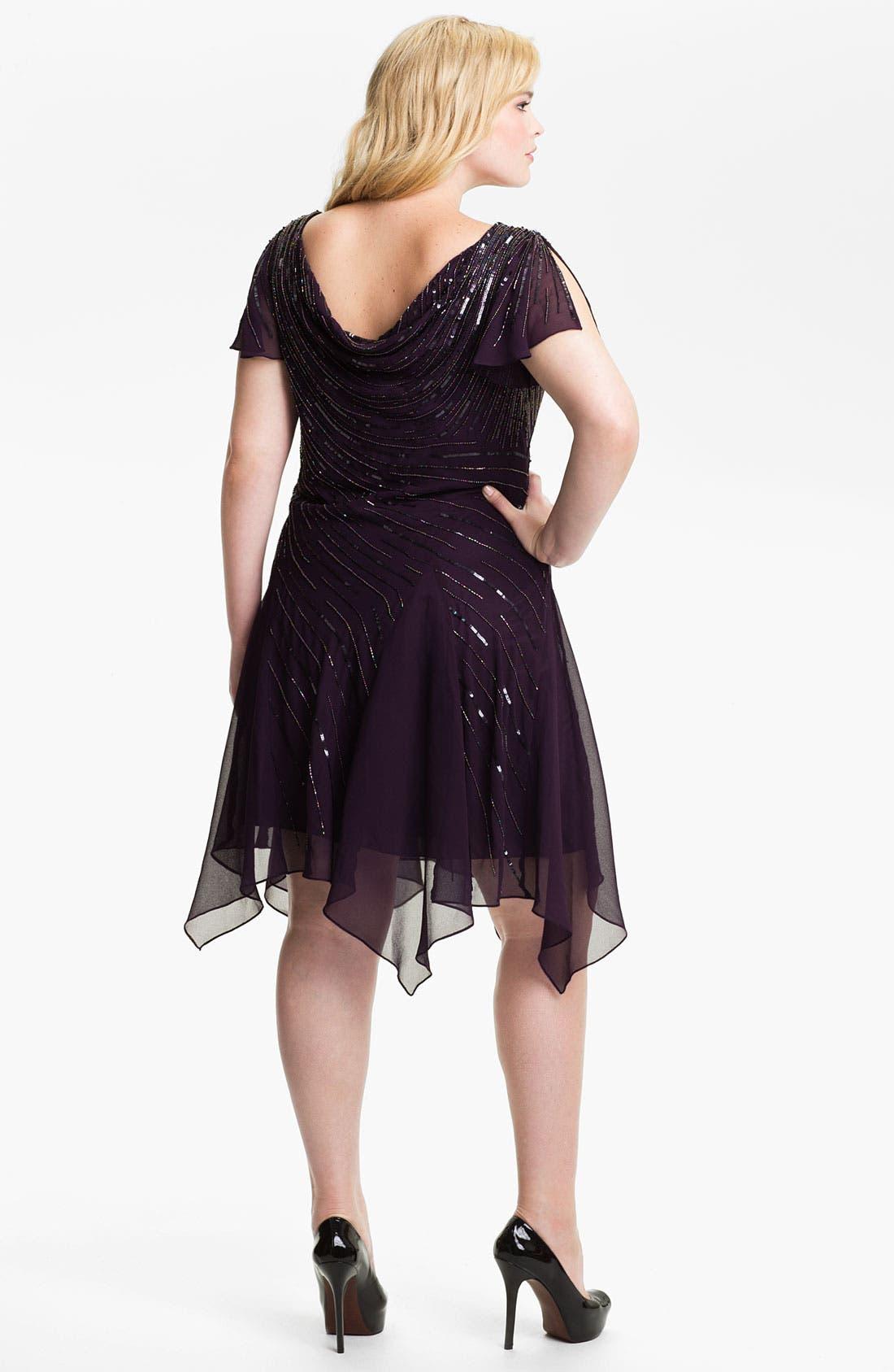 Alternate Image 2  - J Kara Beaded Chiffon Dress (Plus)