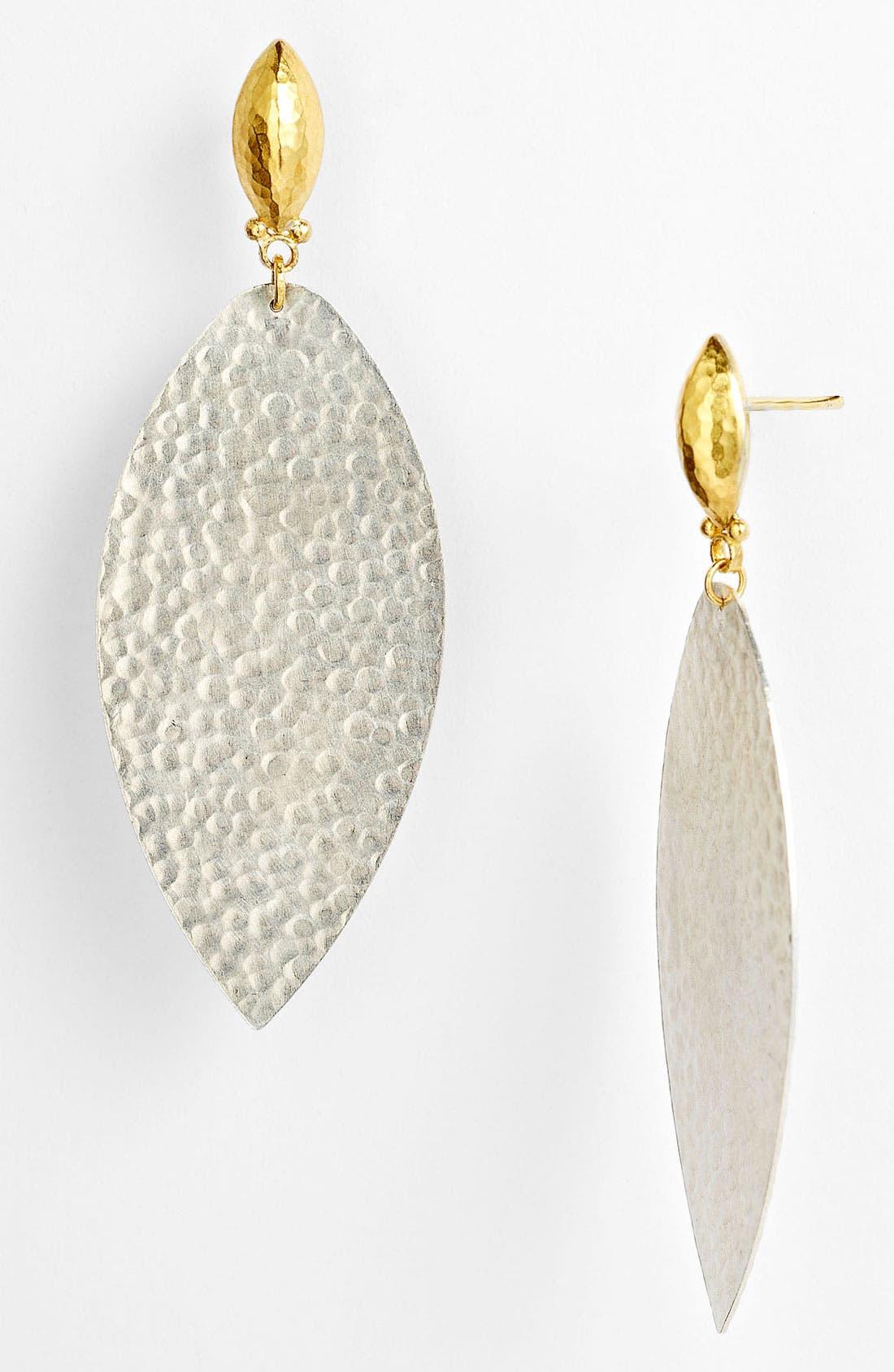 Main Image - Gurhan 'Willow' Medium Leaf Drop Earrings