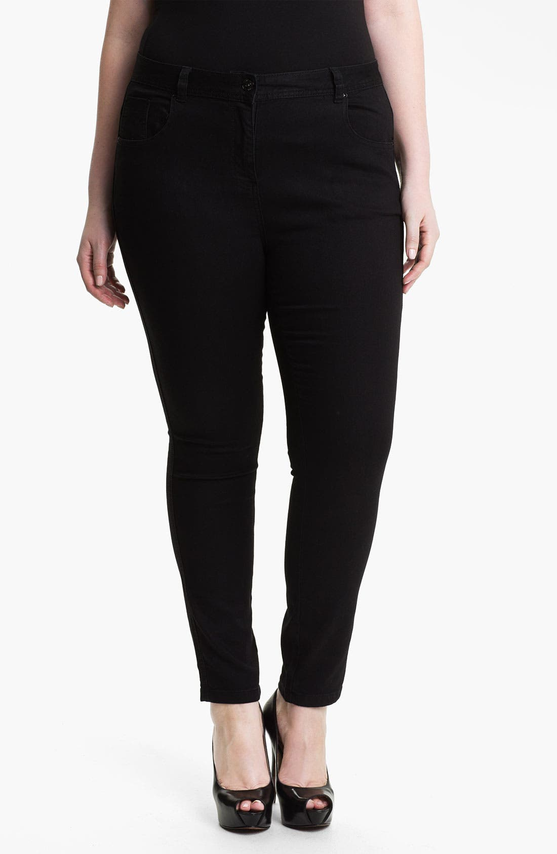 Alternate Image 1 Selected - Evans 'Super Stretch' Jeans (Plus Size)