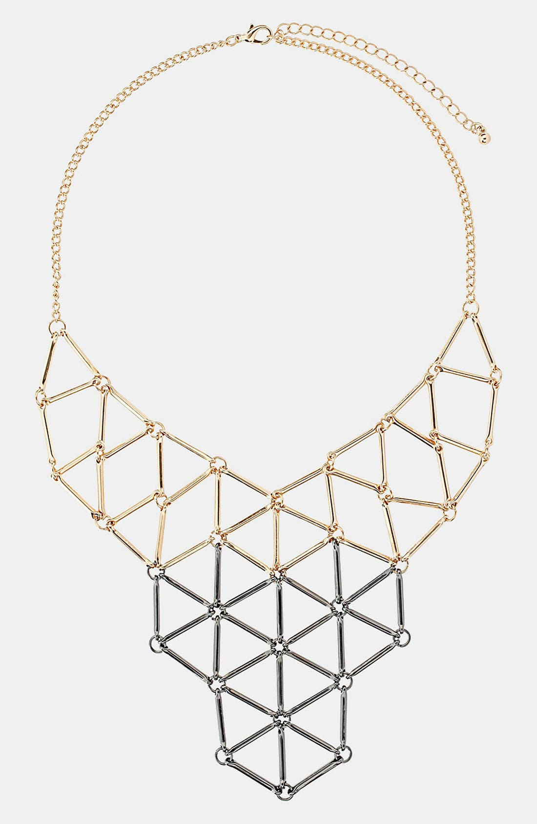 Main Image - Topshop Two Tone Geometric Necklace