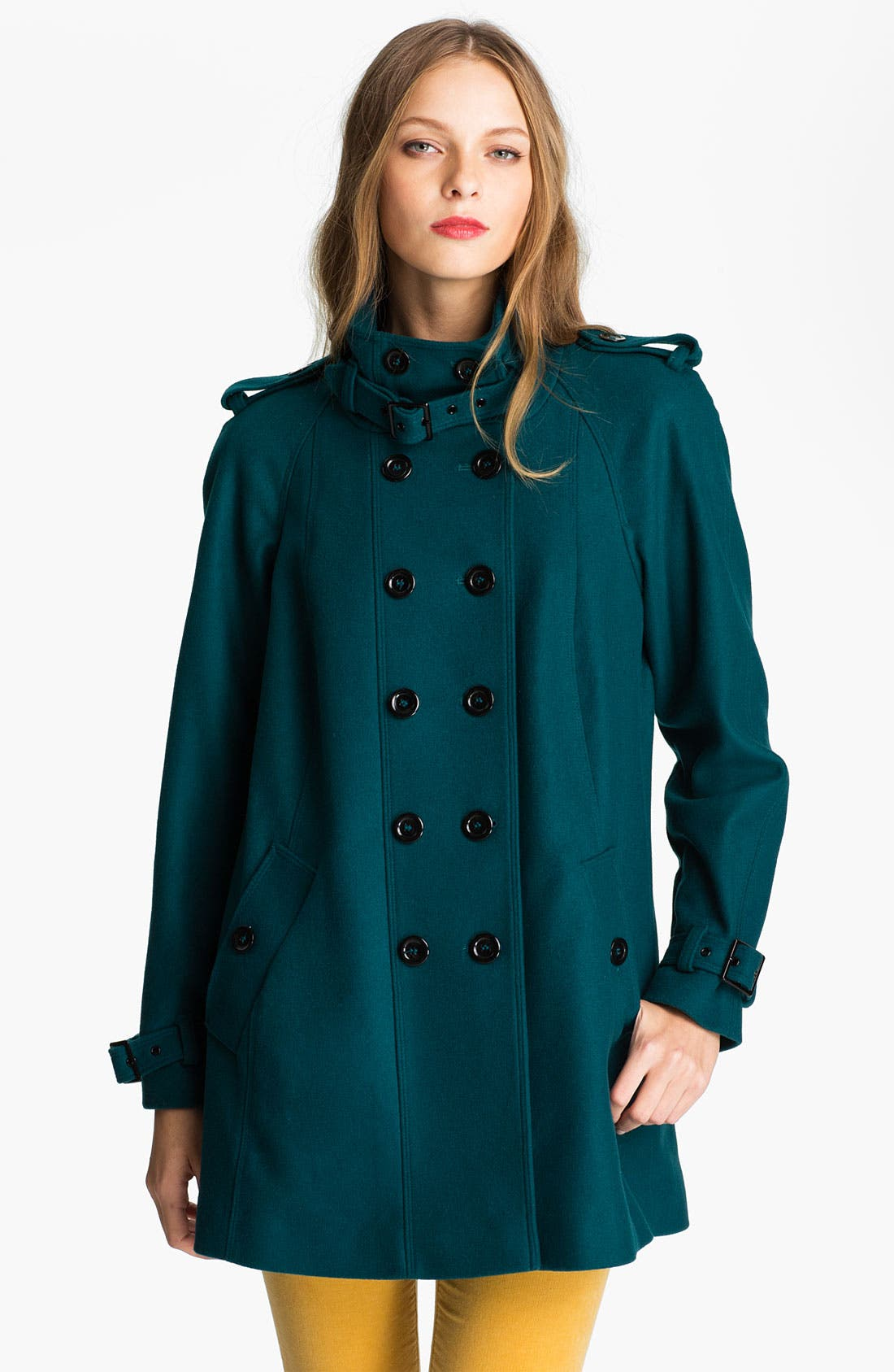 Alternate Image 1 Selected - Nicole Miller Double Breasted Wool Blend Coat