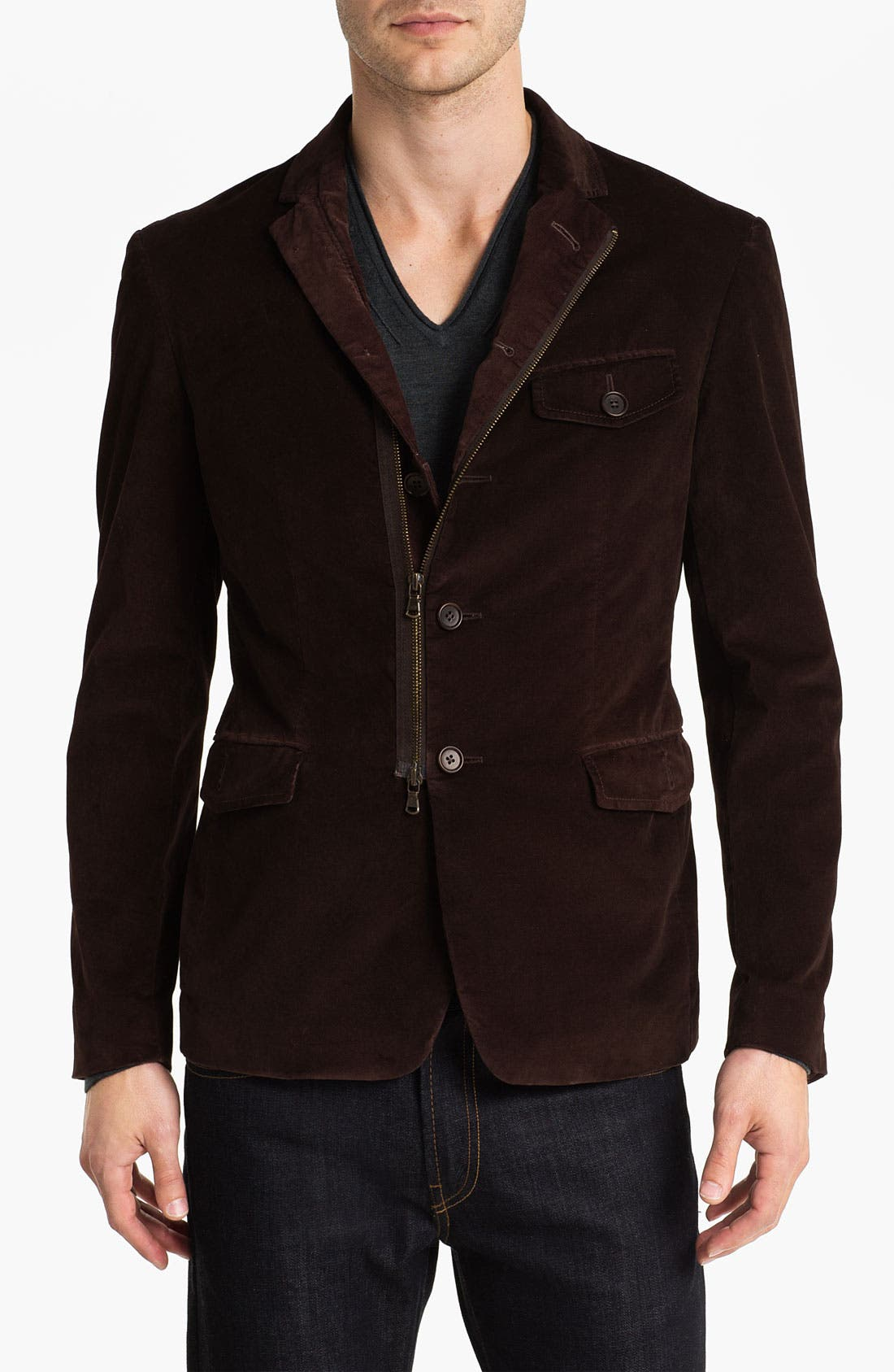 Main Image - John Varvatos Star USA Stretch Cotton Jacket