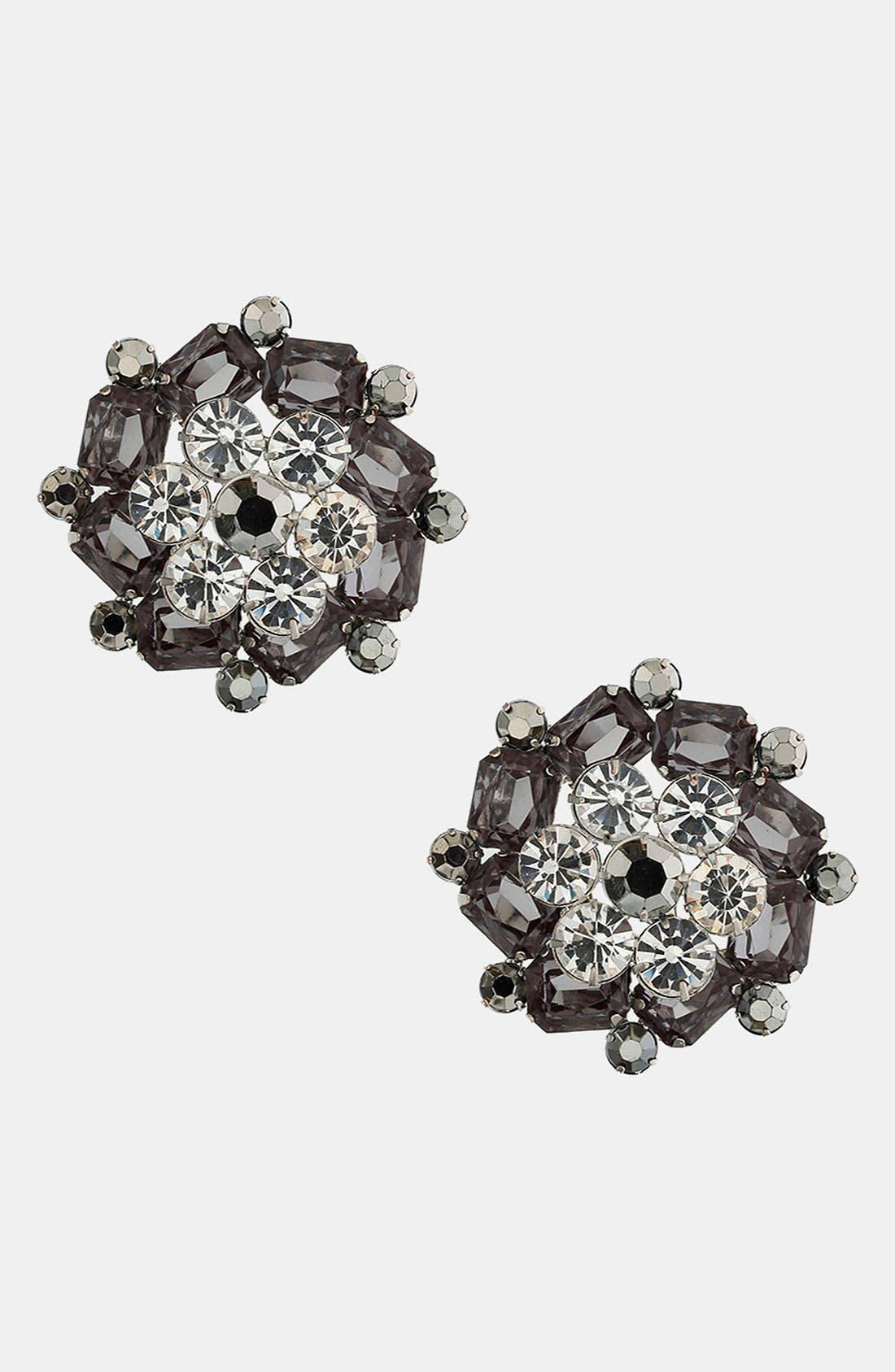 Alternate Image 1 Selected - Topshop Rhinestone Earrings