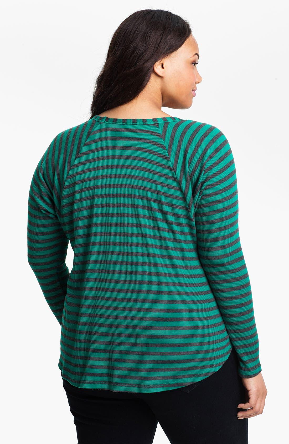 Alternate Image 2  - Splendid Boxy Stripe Tee (Plus Size)