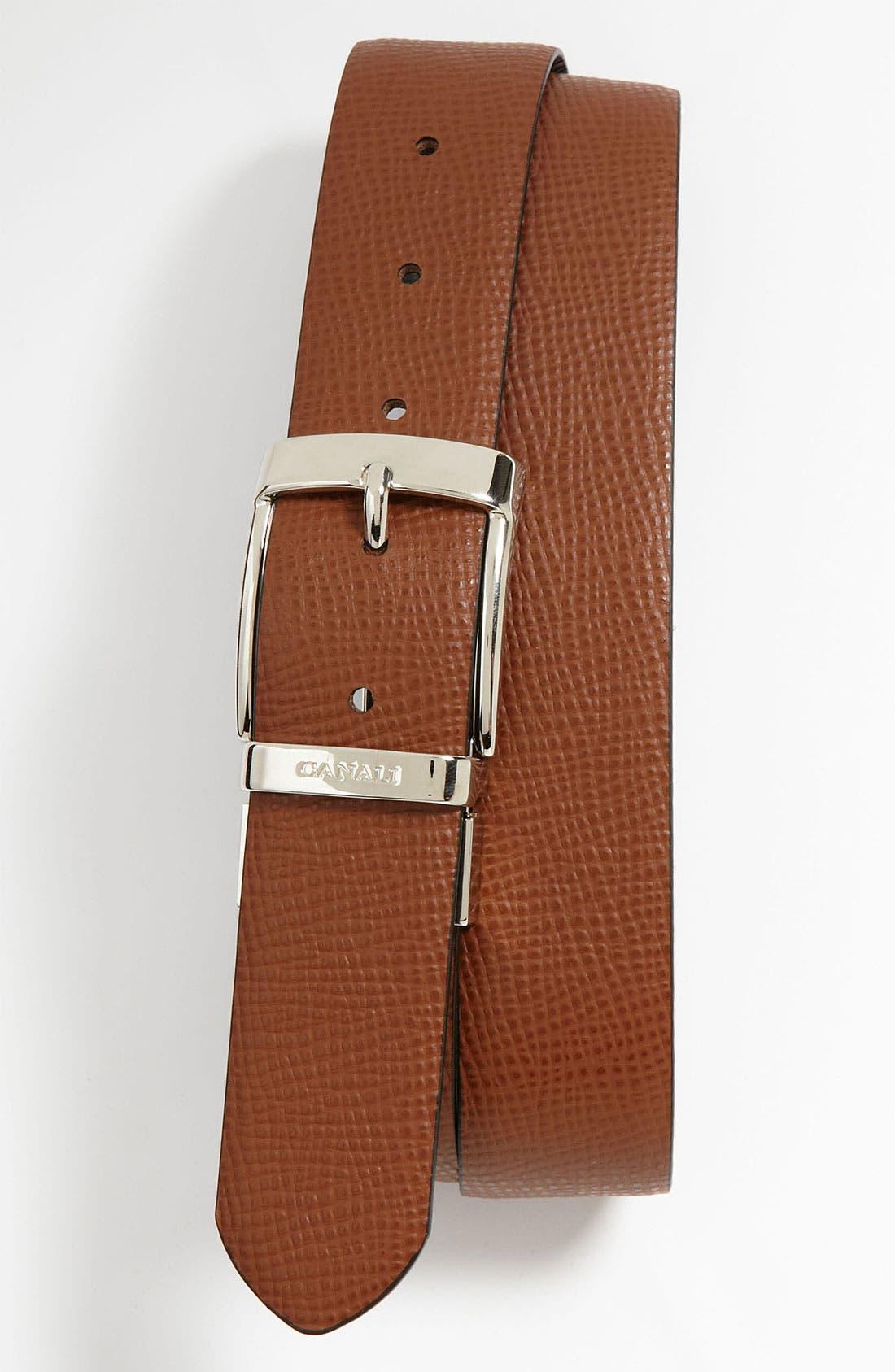 Alternate Image 2  - Canali 'Dollaro' Reversible Leather Belt