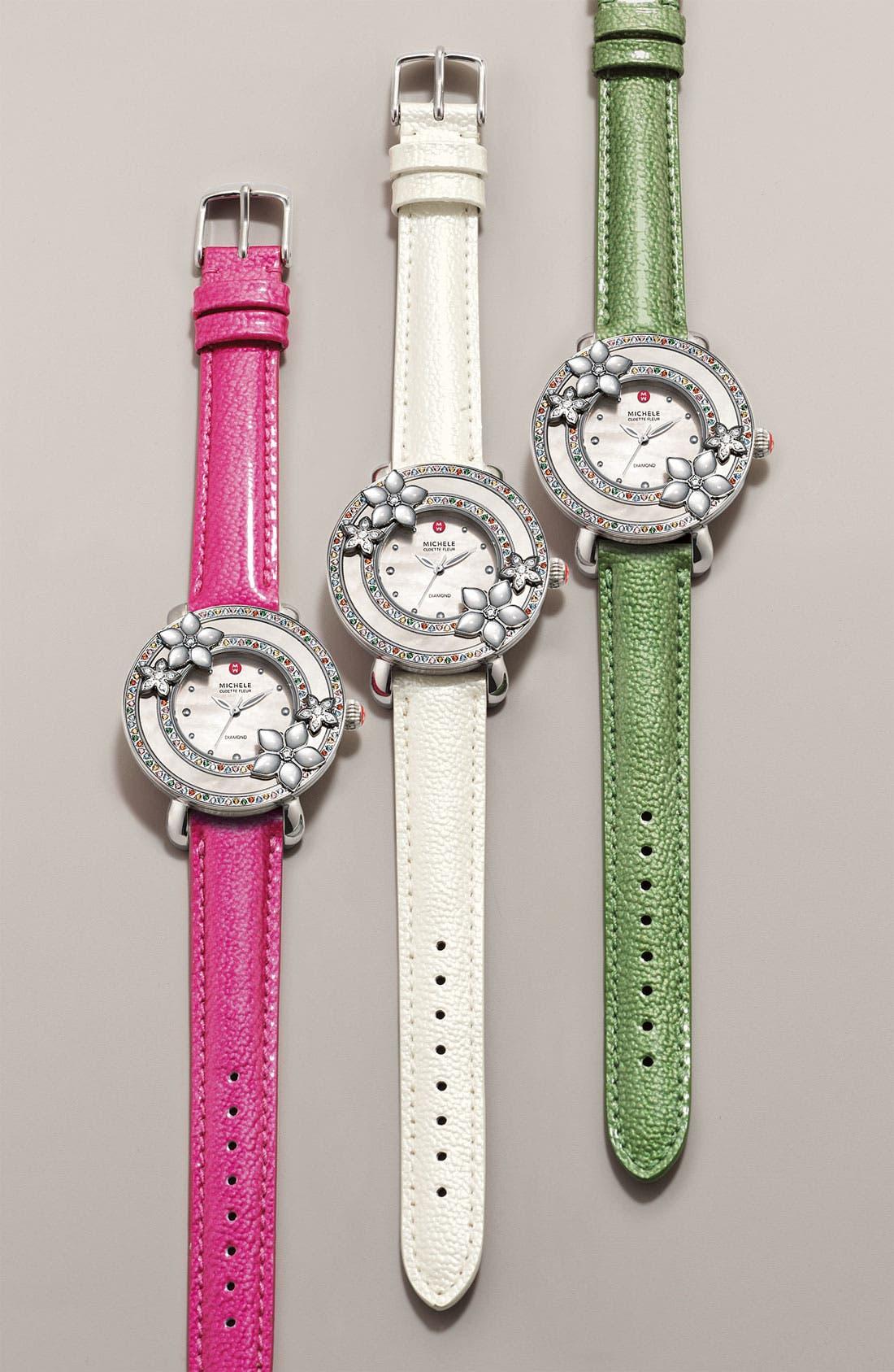 Alternate Image 1 Selected - MICHELE 'Cloette Fleur' Customizable Watch