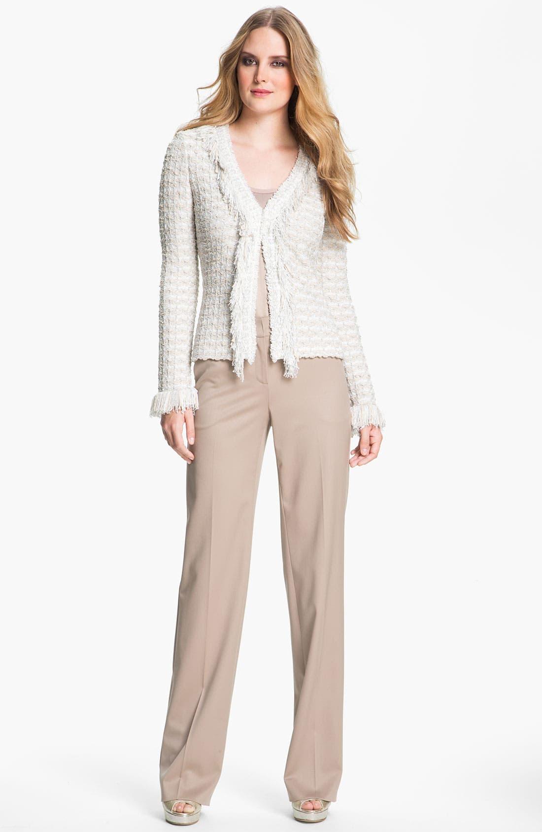 Alternate Image 1 Selected - St. John Collection Shredded Trim Tweed Jacket