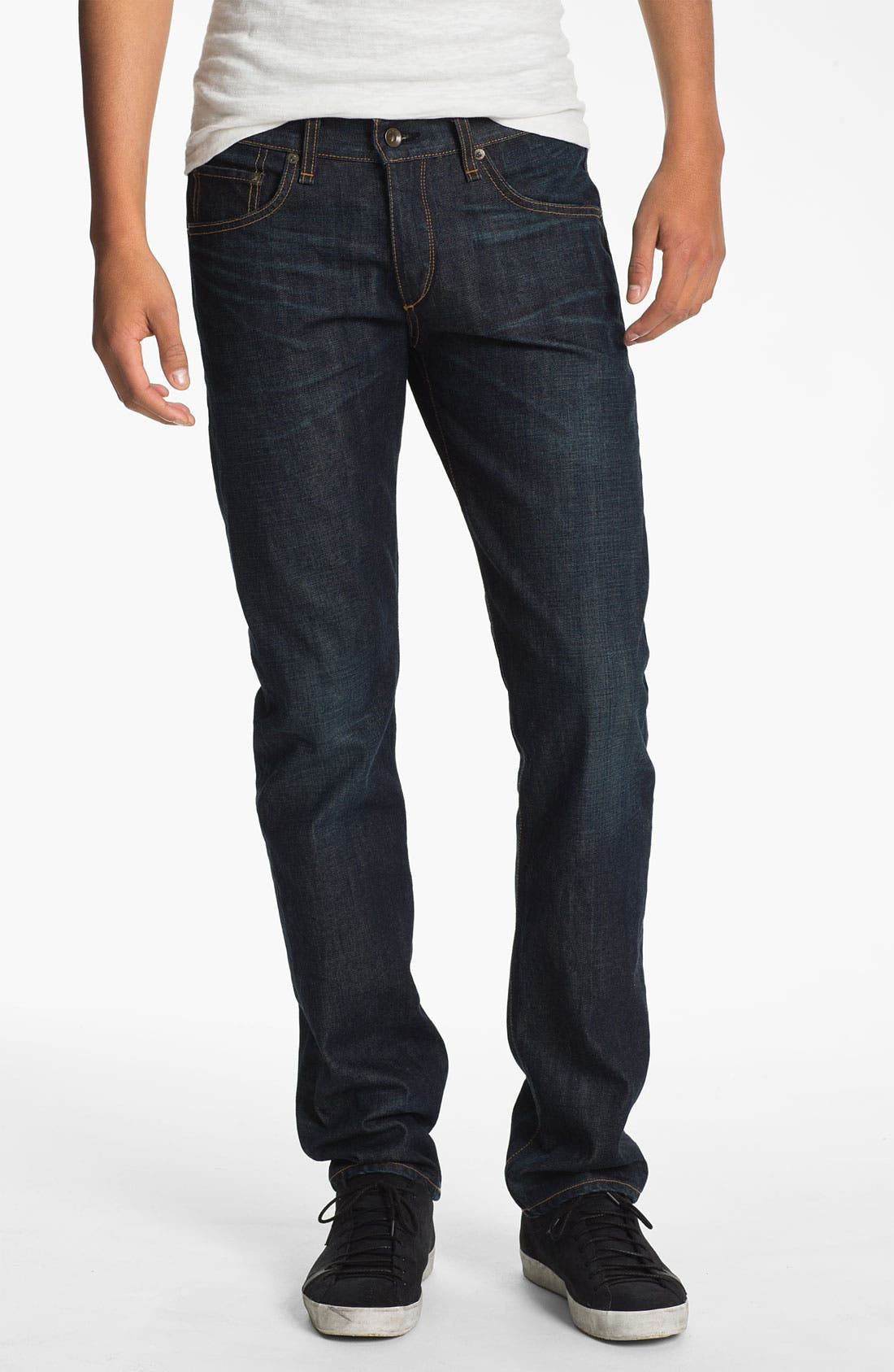 Alternate Image 1 Selected - rag & bone 'RB19X' Slim Straight Leg Jeans (Dover Blue)